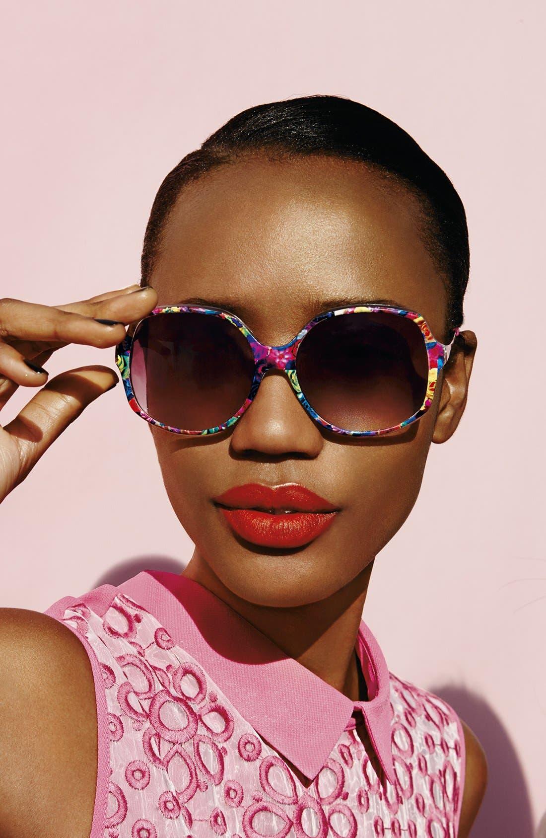 OUTLOOK EYEWEAR,                             'Point' 57mm Sunglasses,                             Alternate thumbnail 3, color,                             001