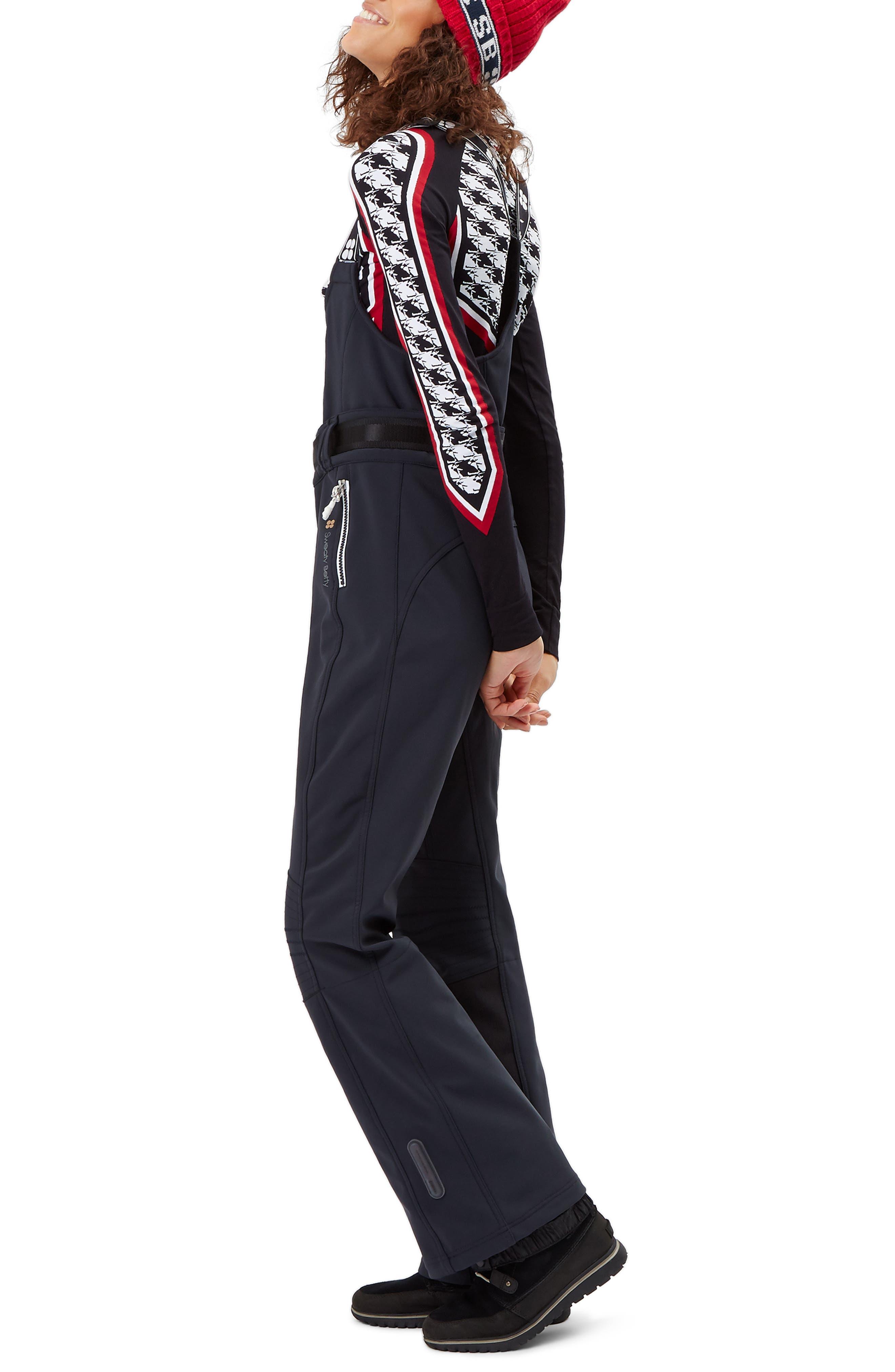 Astro Waterproof Soft Shell Ski Pants,                             Alternate thumbnail 3, color,                             BLACK