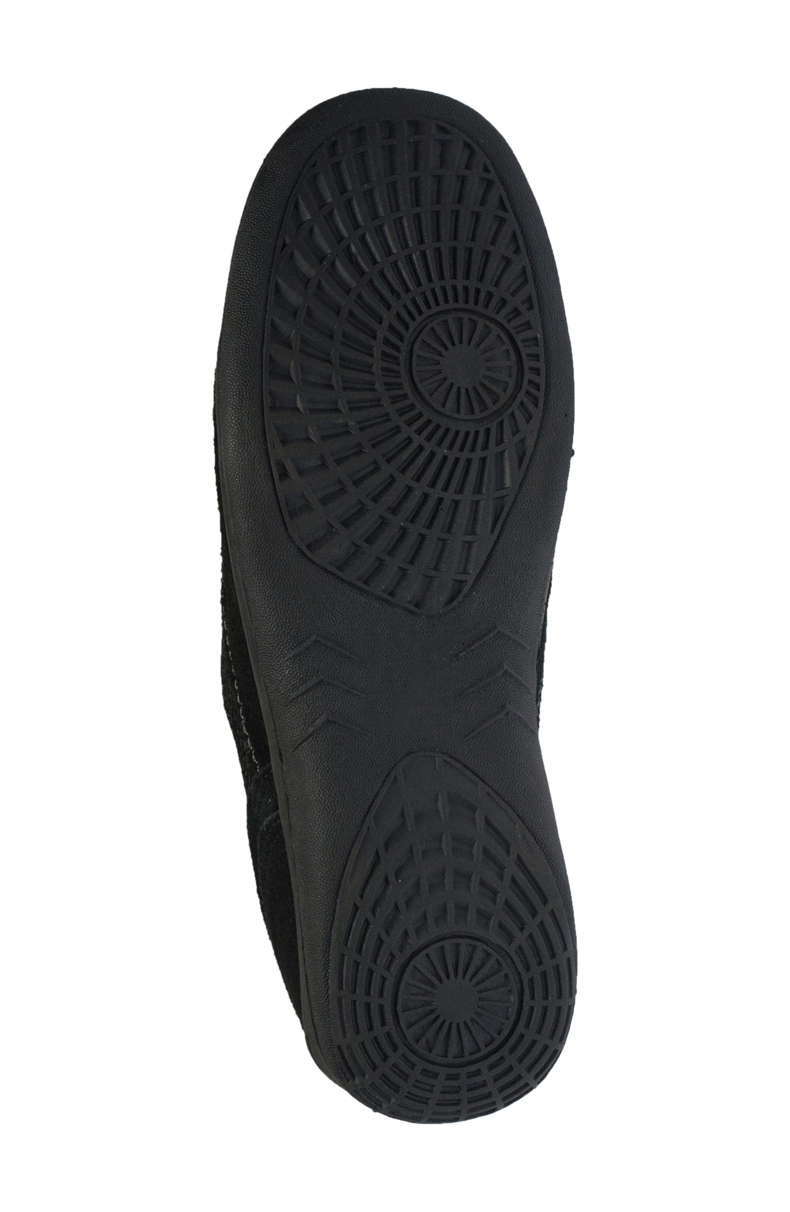 Racer Slip-On Sneaker,                             Alternate thumbnail 5, color,                             BLACK LEATHER