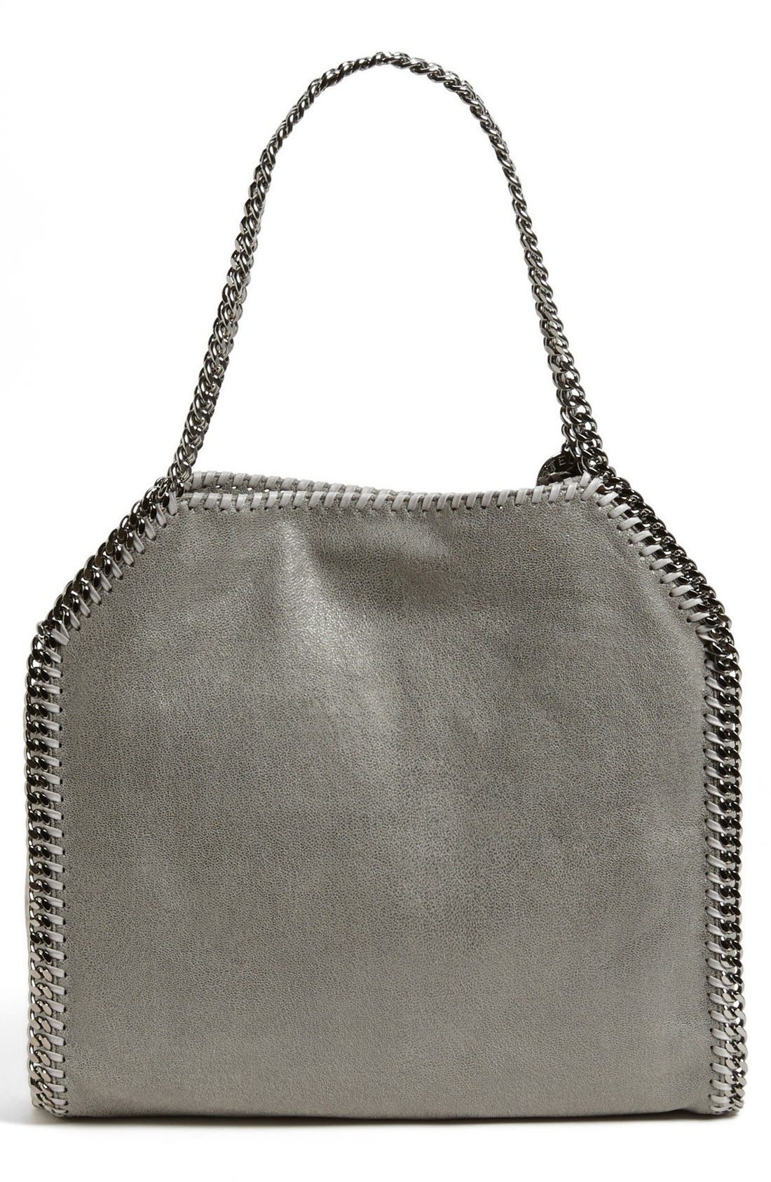 'Small Falabella - Shaggy Deer' Faux Leather Tote,                             Alternate thumbnail 2, color,                             LT.GREY