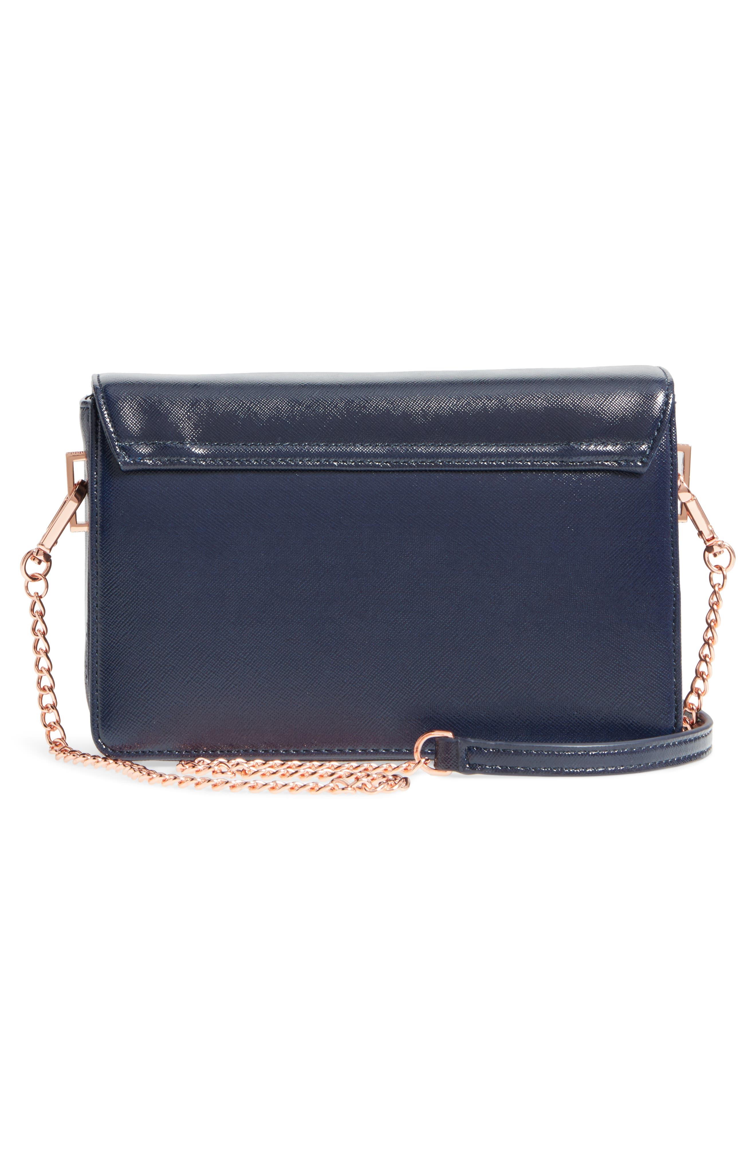 Tilleyy Gardenia Faux Leather Crossbody Bag,                             Alternate thumbnail 3, color,                             402