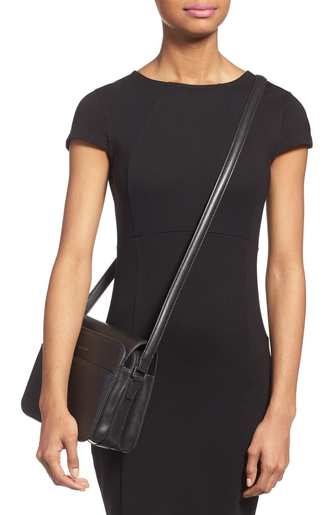 MATT & NAT,                             'Elle' Vegan Leather Crossbody Bag,                             Alternate thumbnail 3, color,                             001
