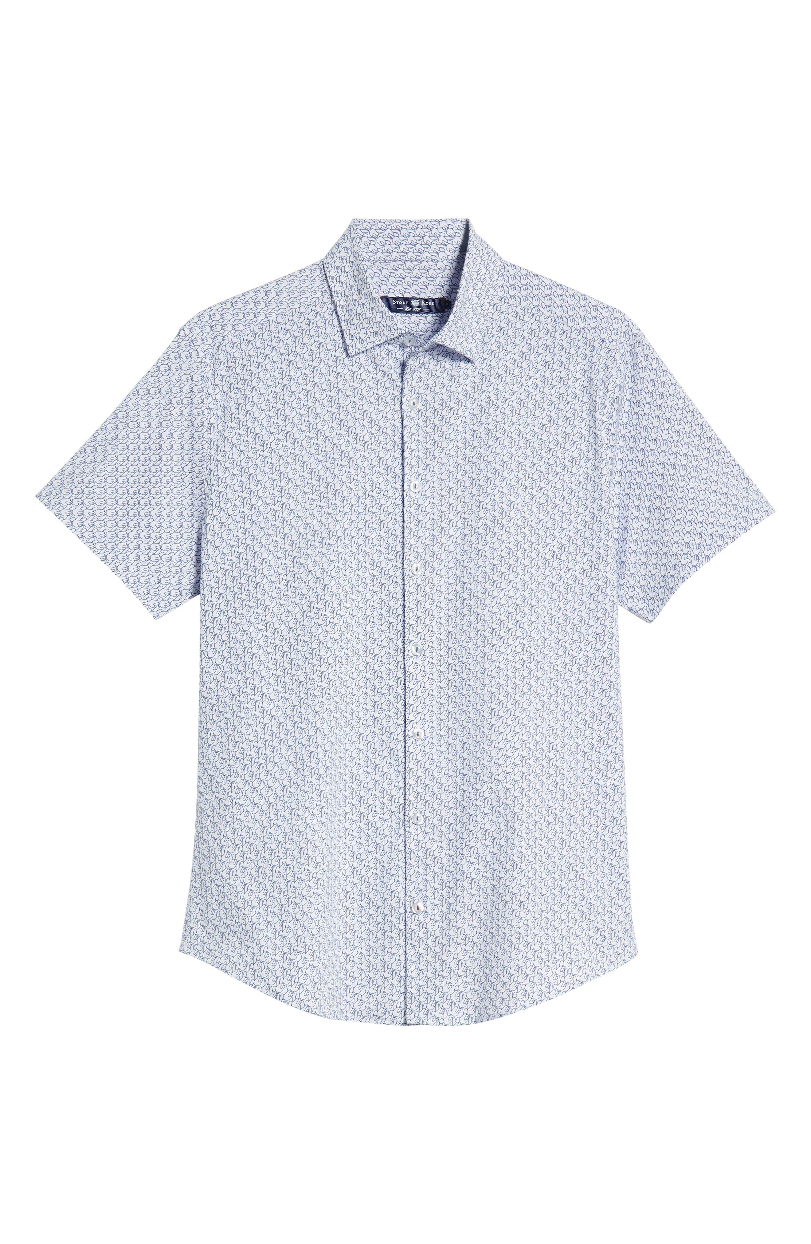 Peace Sign Regular Fit Sport Shirt,                             Alternate thumbnail 5, color,                             100