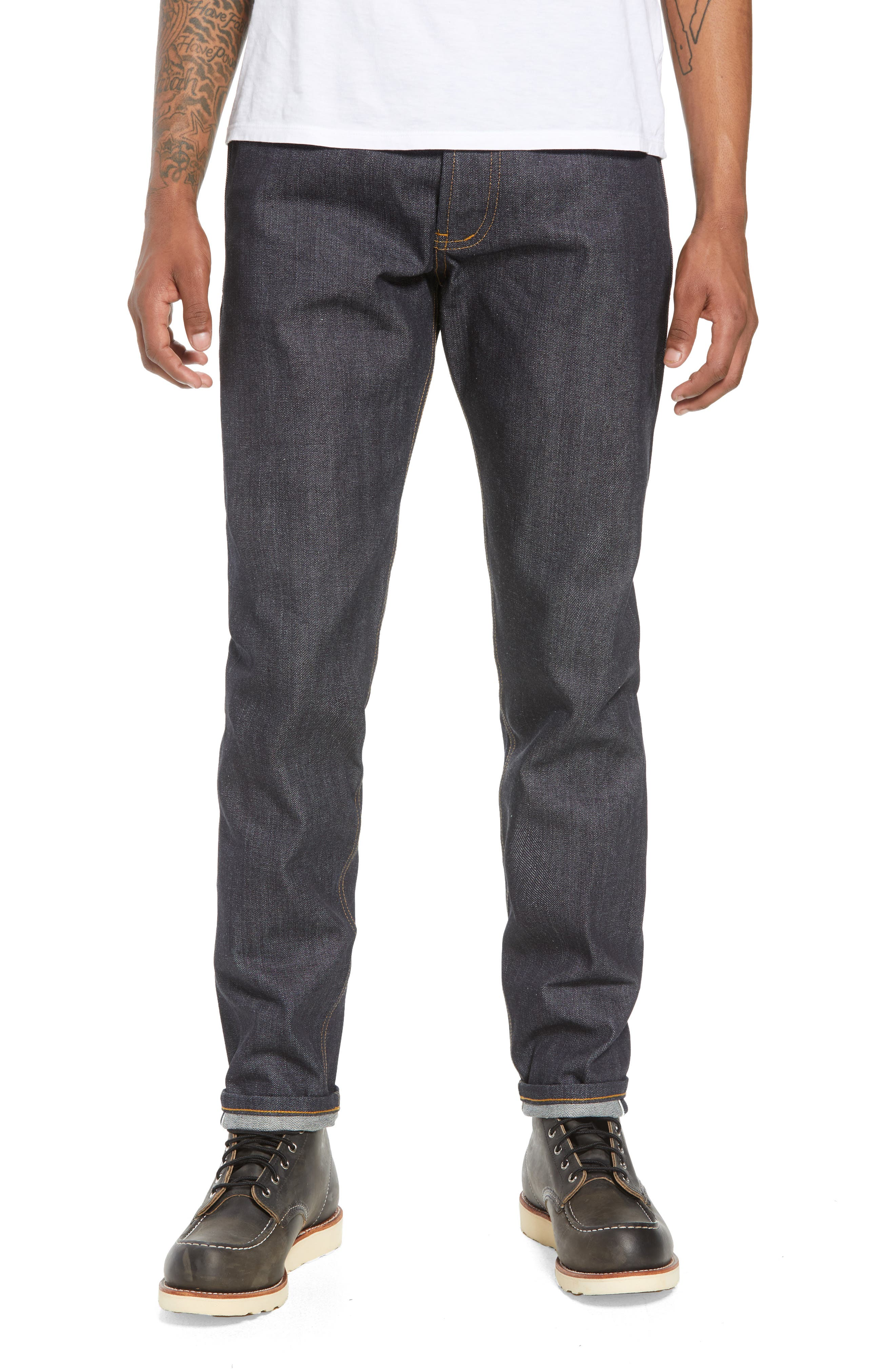 Easy Guy Skinny Fit Jeans,                             Main thumbnail 1, color,                             LEFT HAND TWILL SELVEDGE