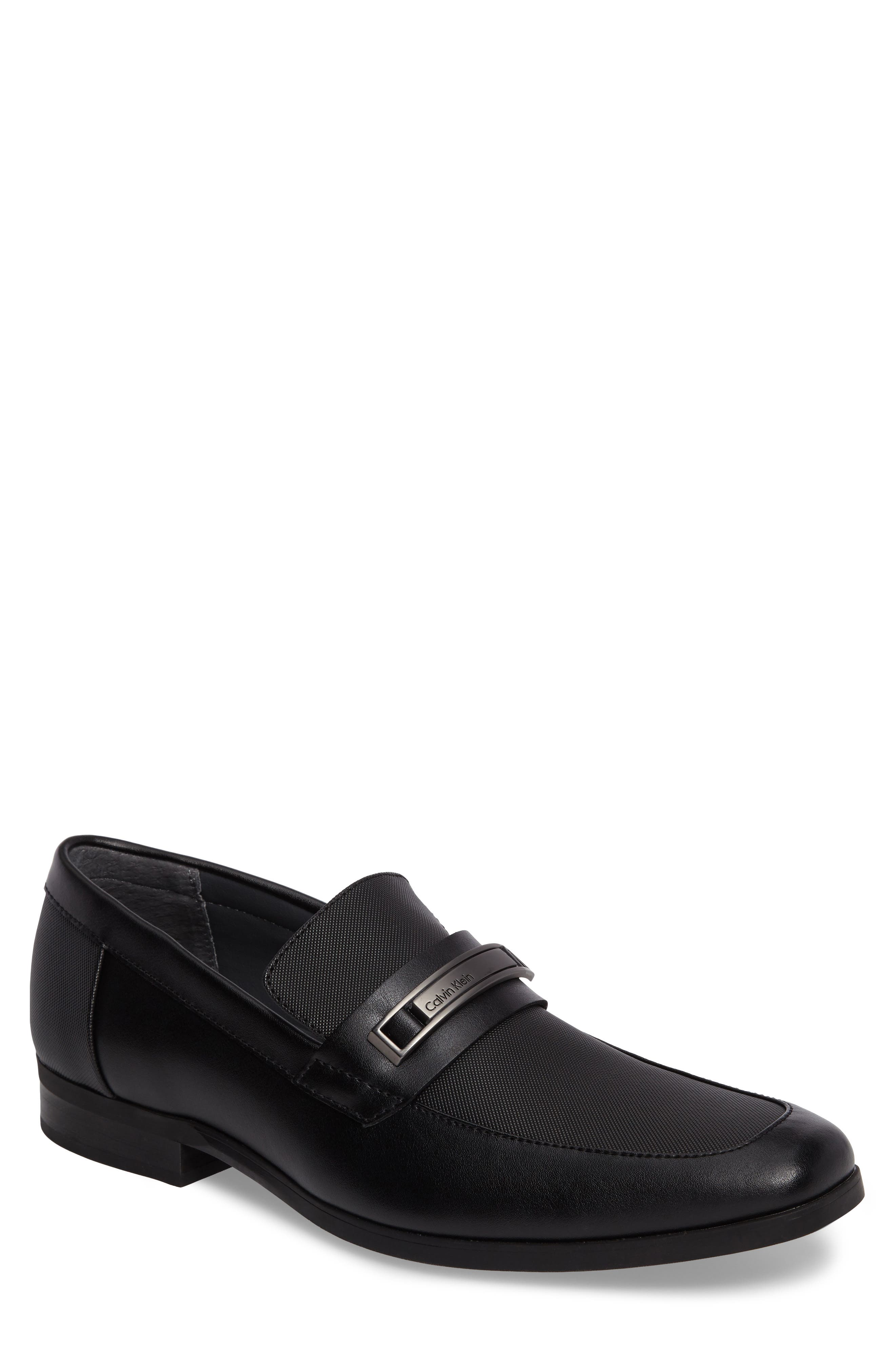 Jameson Emossed Loafer,                             Main thumbnail 1, color,                             BLACK LEATHER