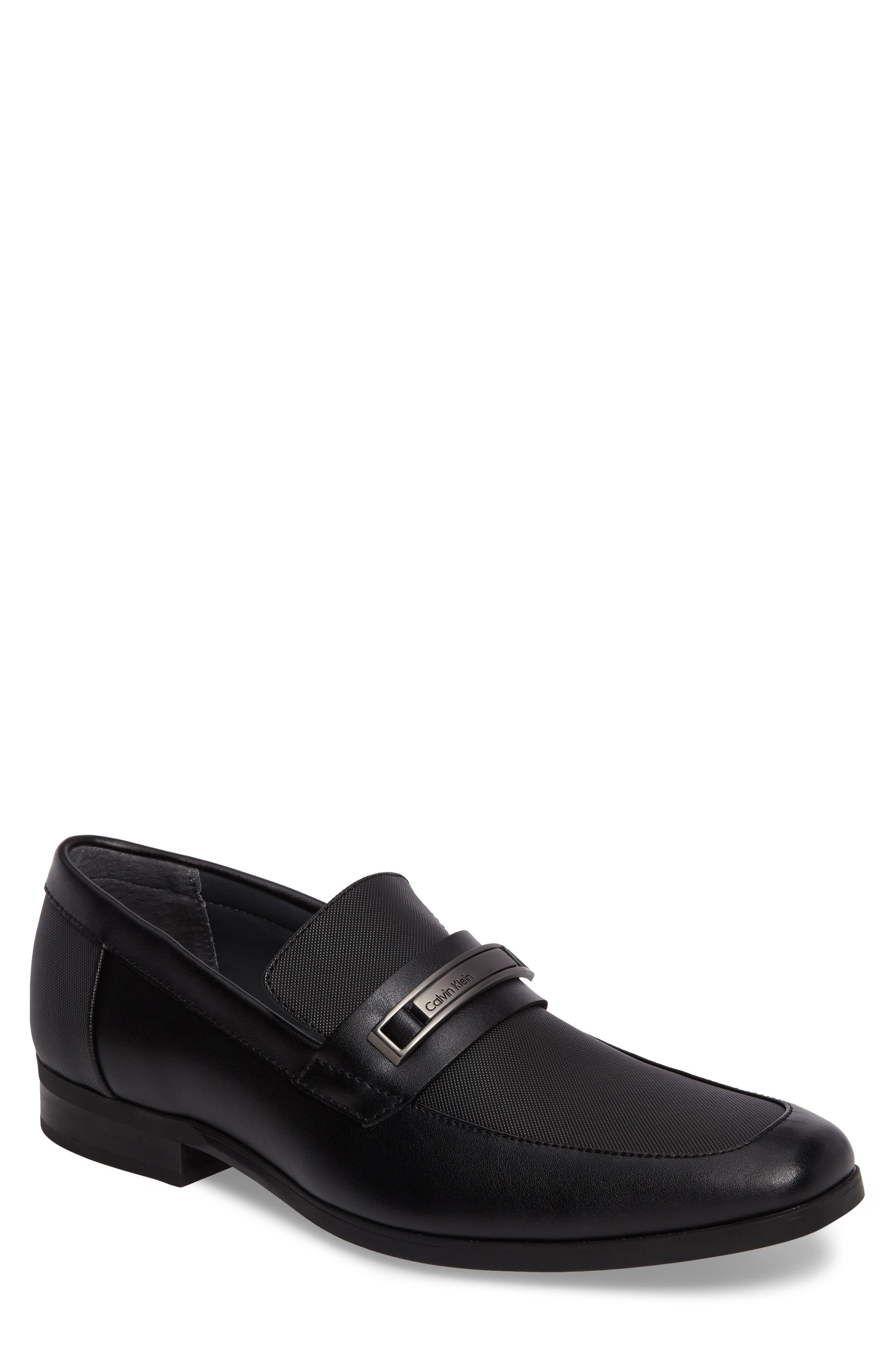 Jameson Emossed Loafer,                         Main,                         color, BLACK LEATHER
