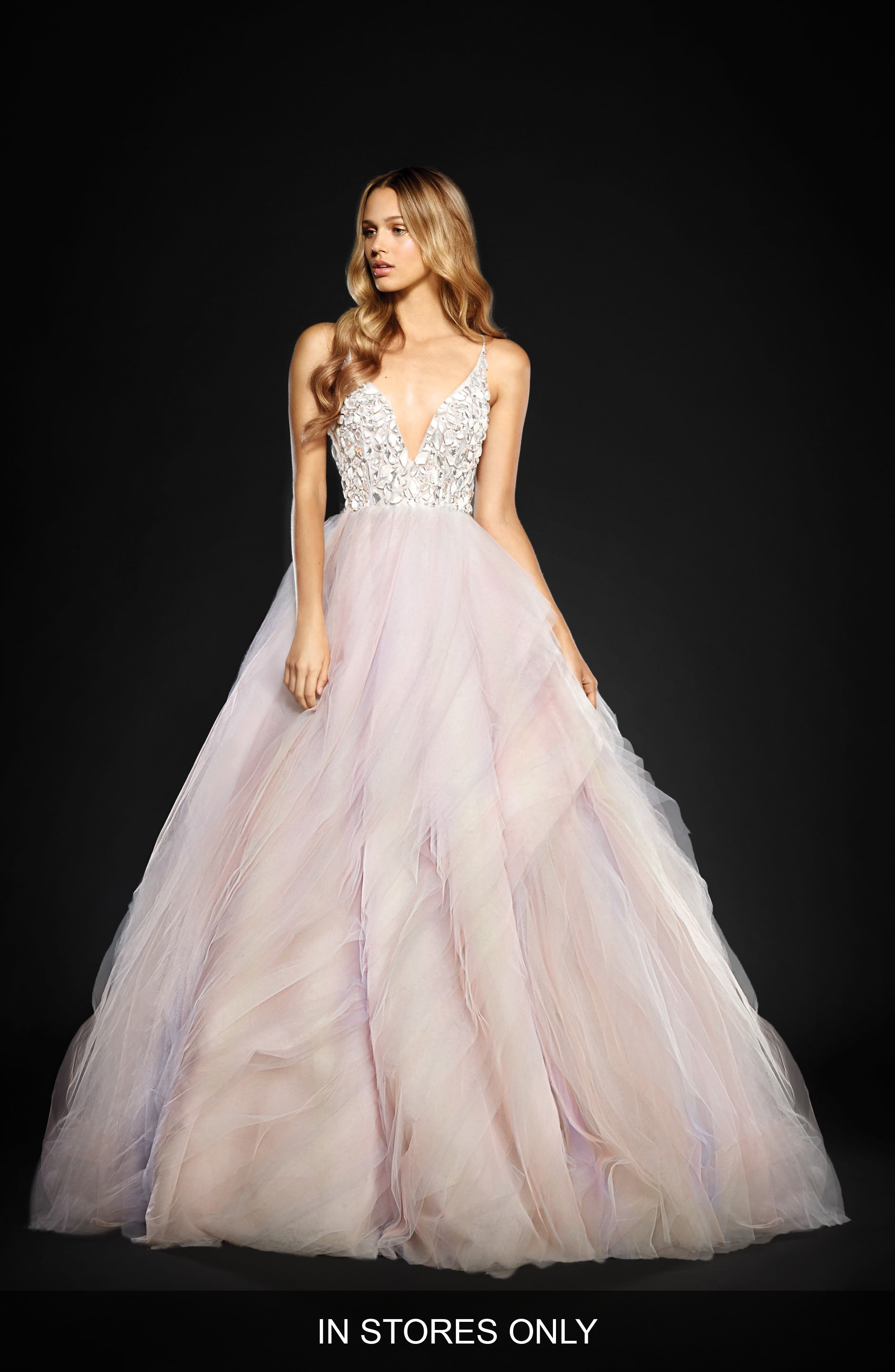 Jem Rock Candy Embellished Tulle Ballgown,                             Alternate thumbnail 3, color,                             900