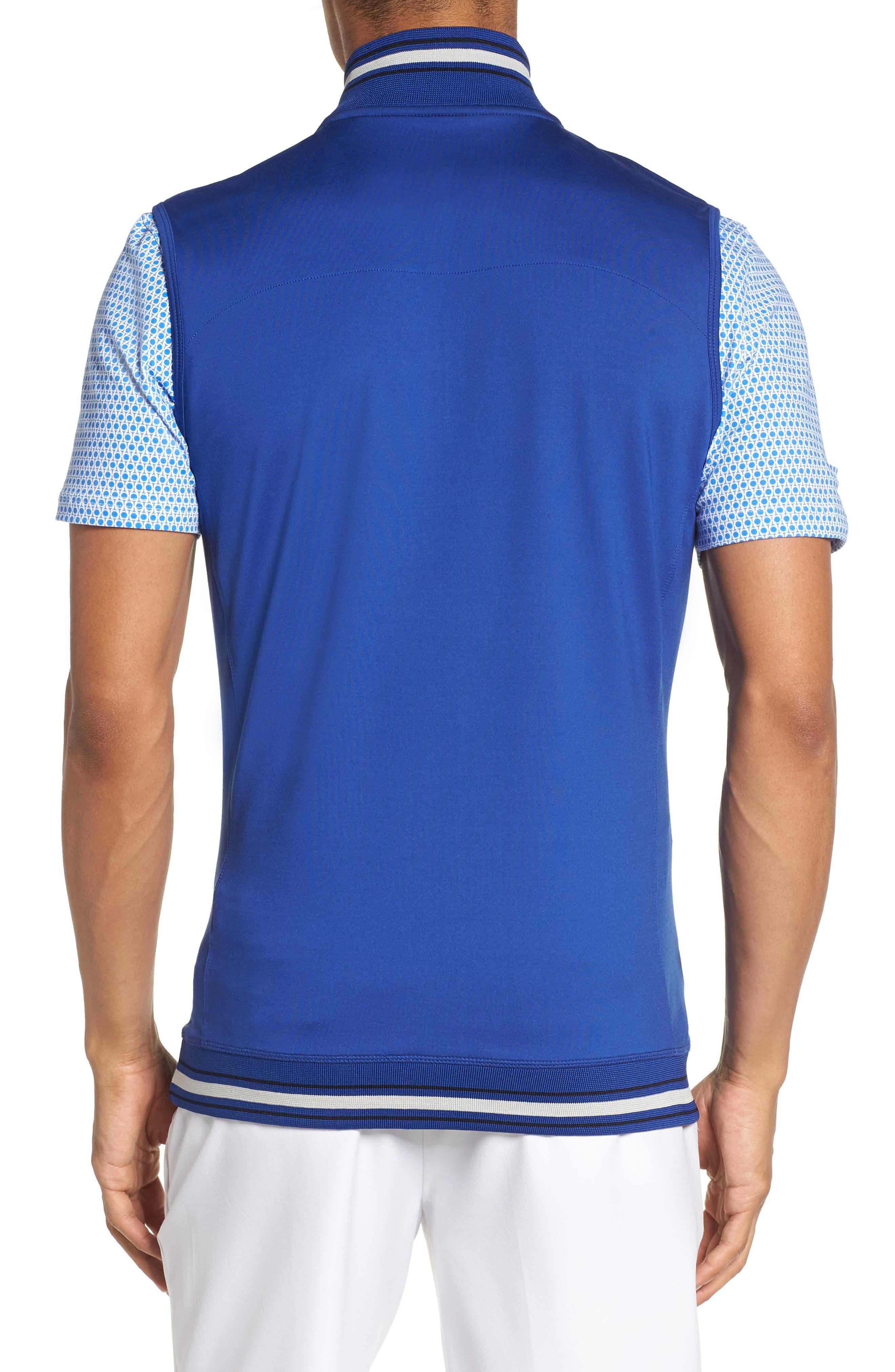 Gala Trim Golf Quarter-Zip Vest,                             Alternate thumbnail 2, color,                             430