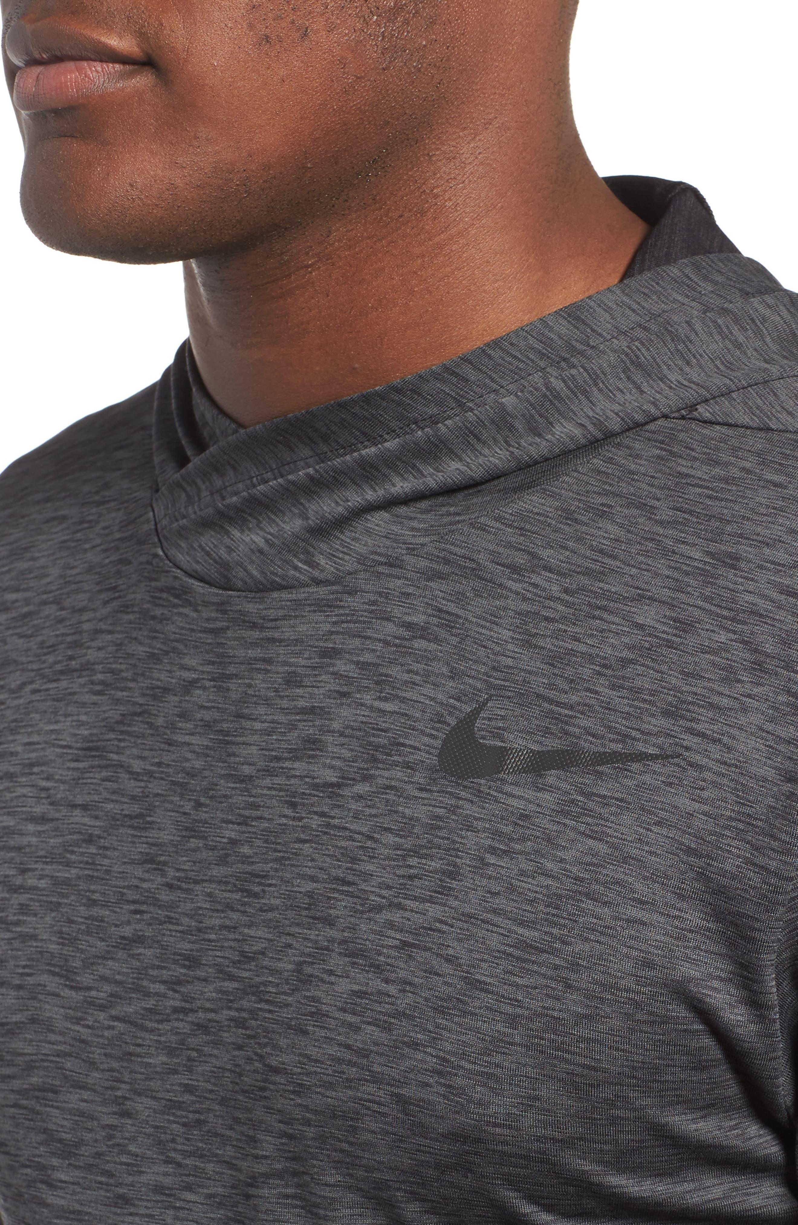 Hyper Dry Regular Fit Training Hoodie,                             Alternate thumbnail 4, color,                             ANTHRACITE/BLACK/BLACK