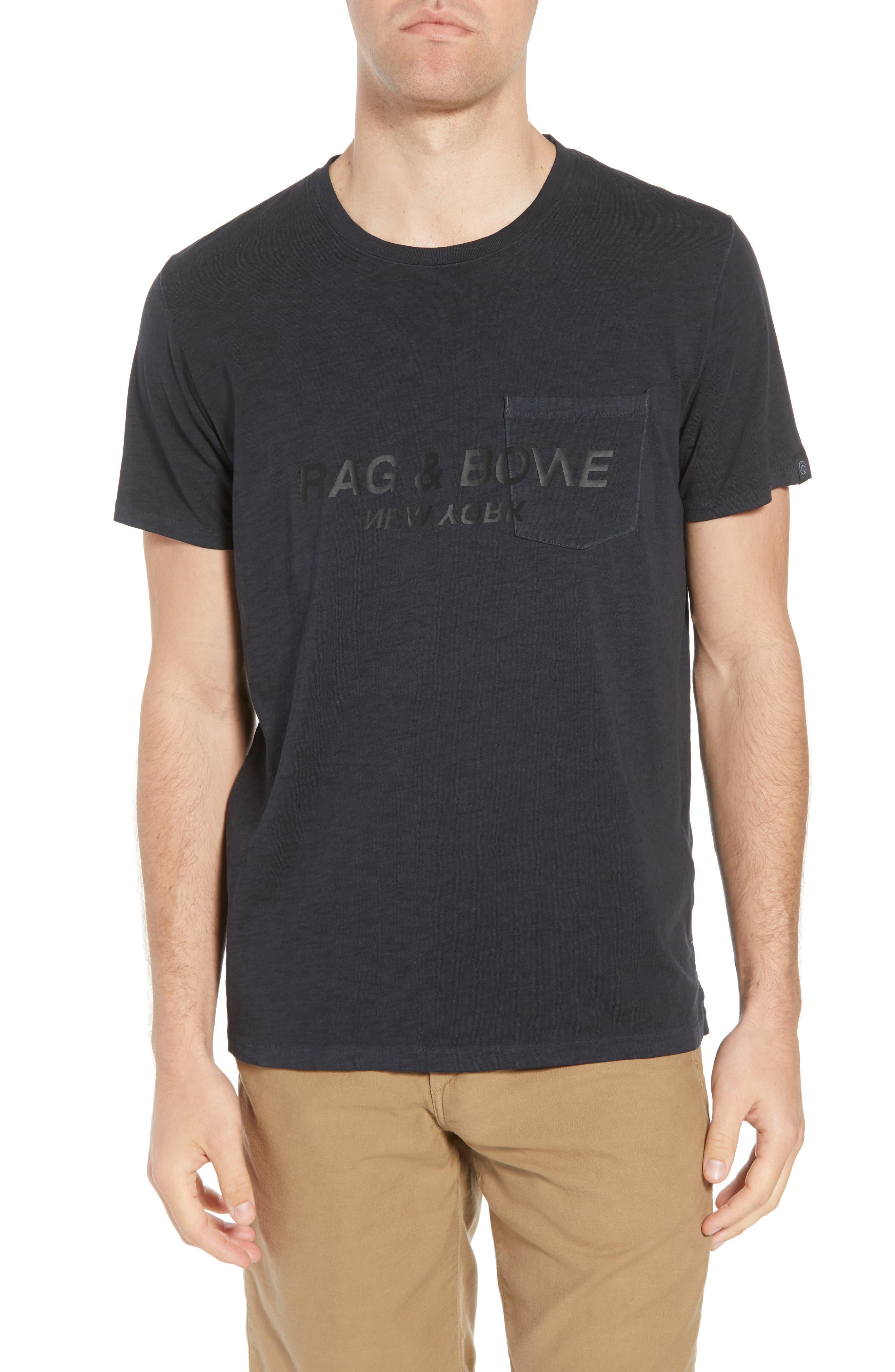 Upside Down Crewneck T-Shirt,                         Main,                         color, WASHED BLACK