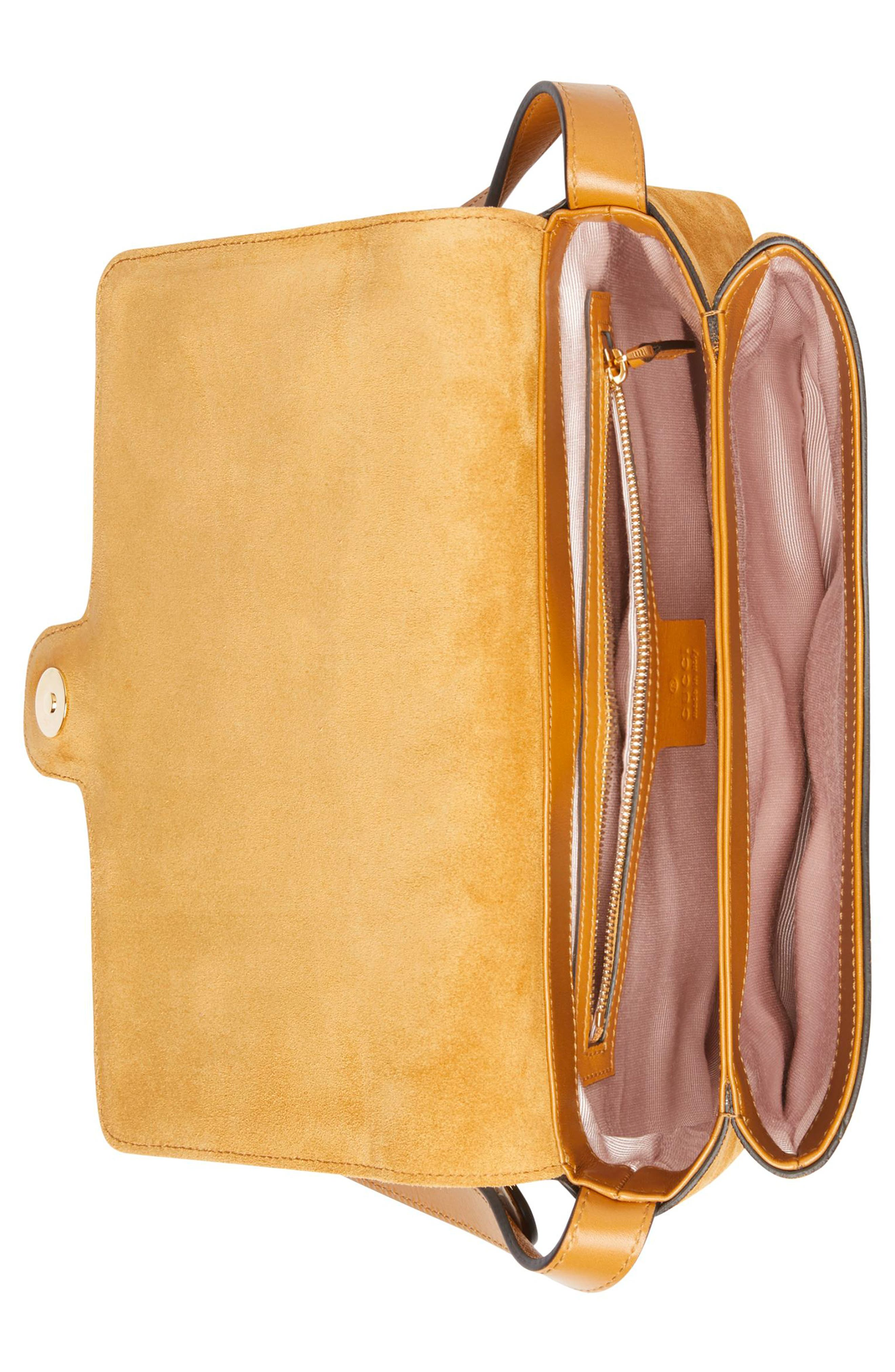 Medium Arli Shoulder Bag,                             Alternate thumbnail 3, color,                             LIGHT COGNAC