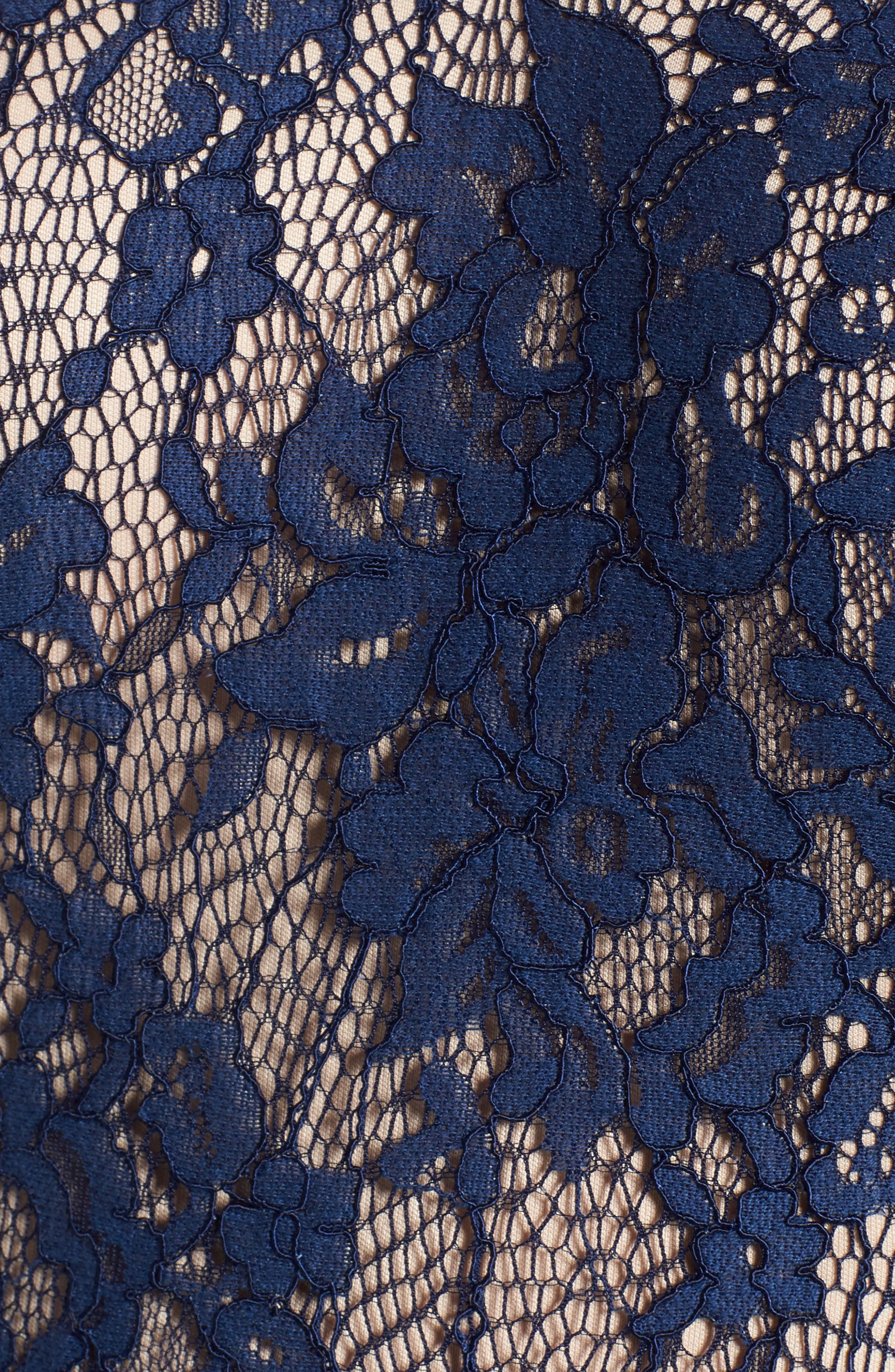 Lace Off the Shoulder Fit & Flare Dress,                             Alternate thumbnail 32, color,