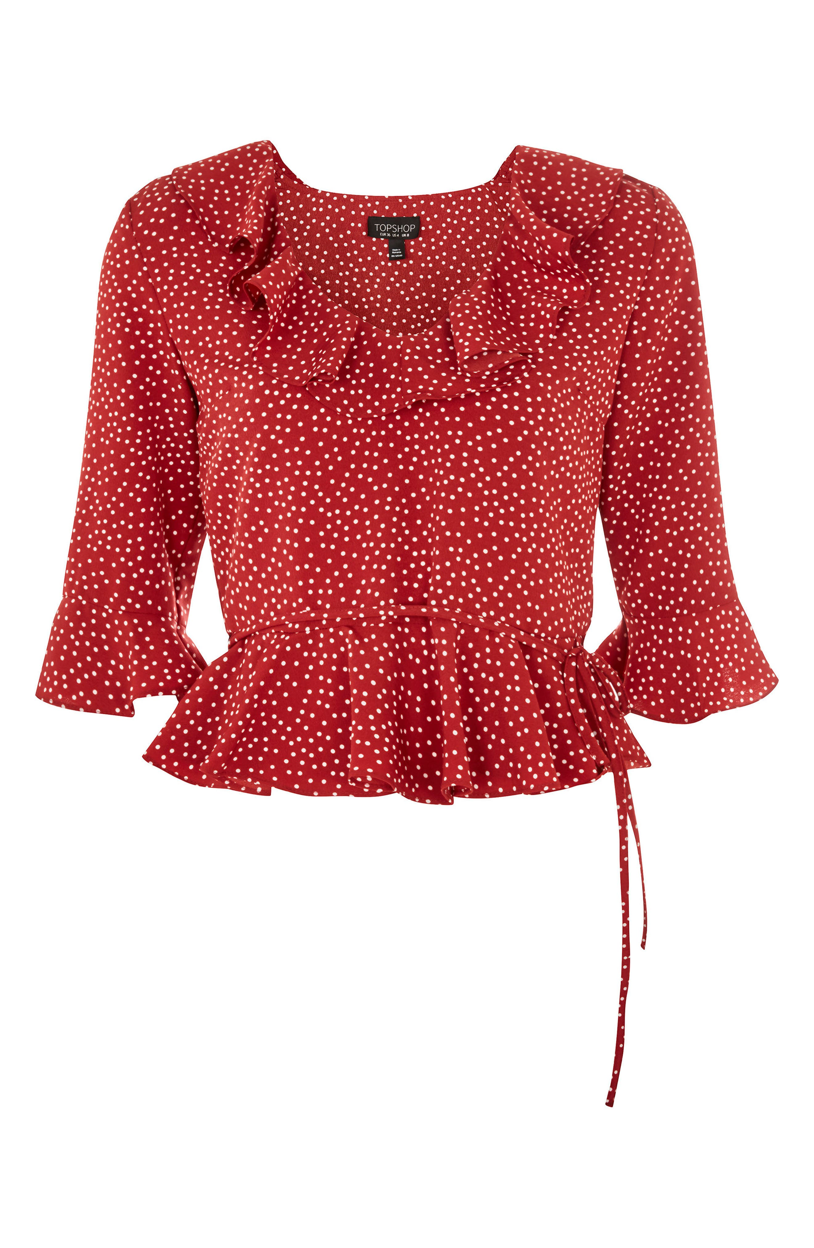 Phoebe Frilly Blouse,                             Alternate thumbnail 26, color,
