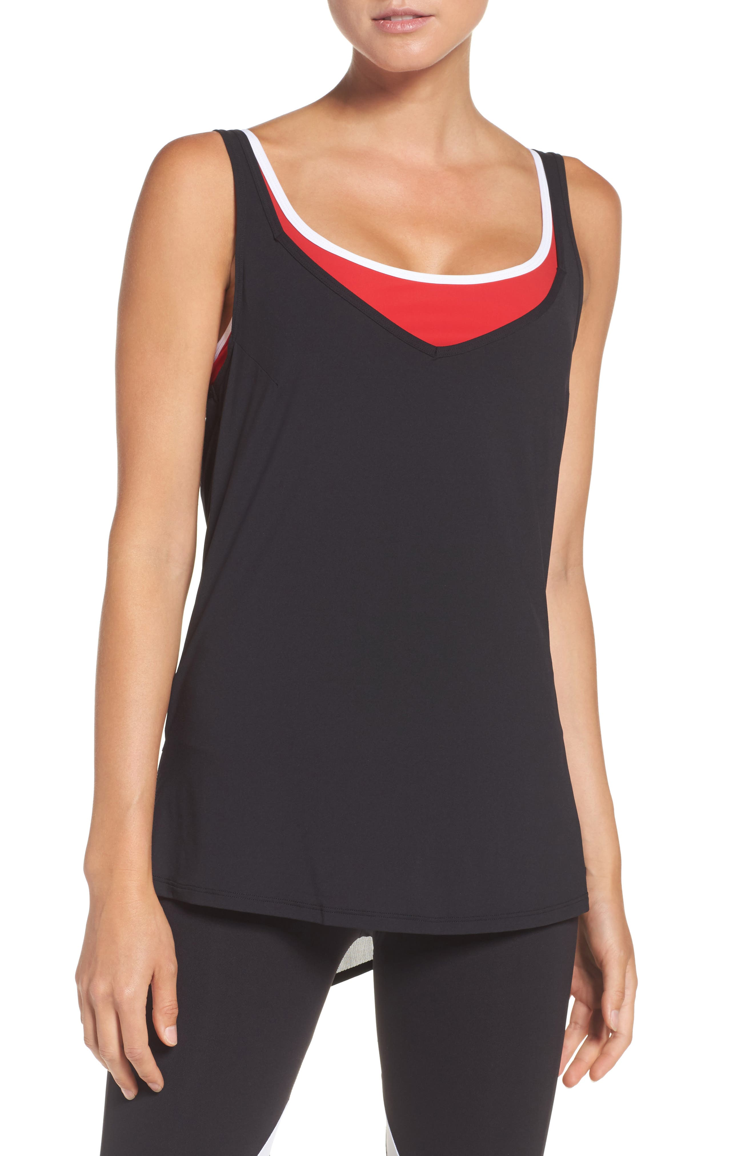 BoomBoom Athletica 2-in-1 Tank,                             Main thumbnail 1, color,                             001