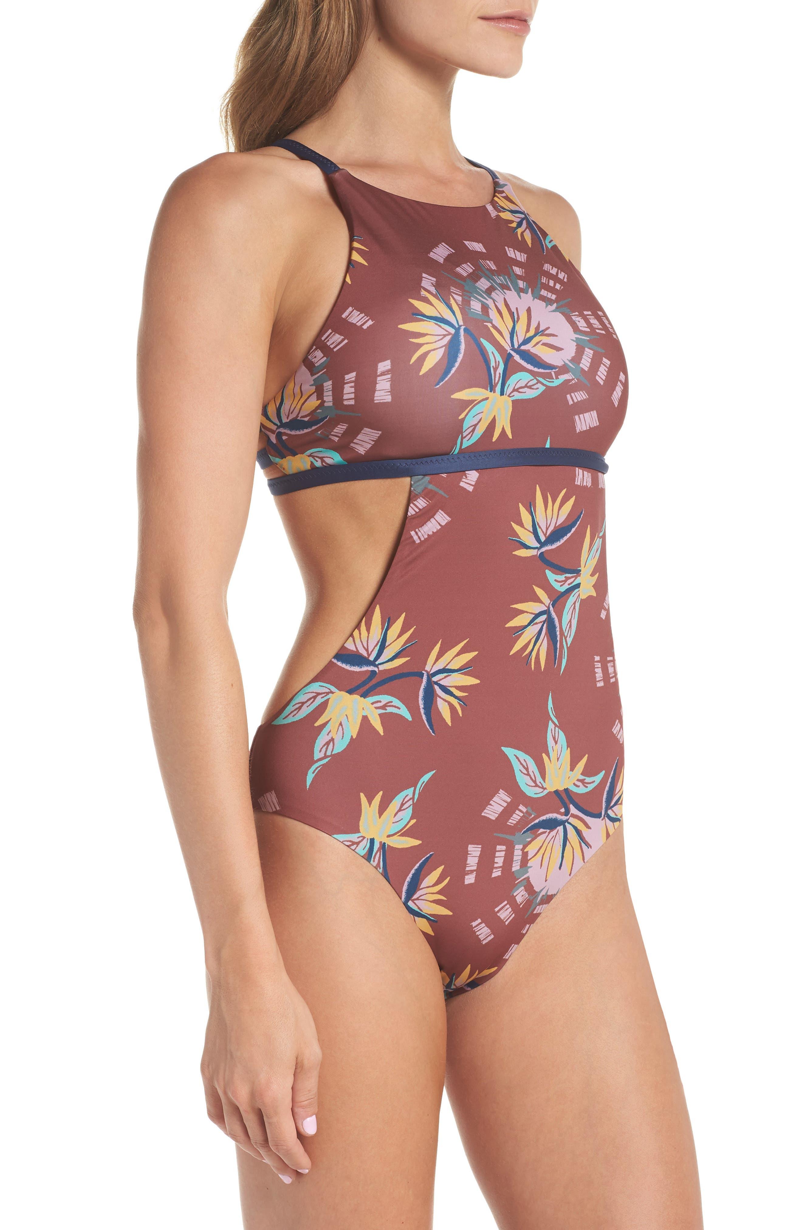 Nireta One-Piece Swimsuit,                             Alternate thumbnail 3, color,                             SOLAR PARADISE: KILN PINK