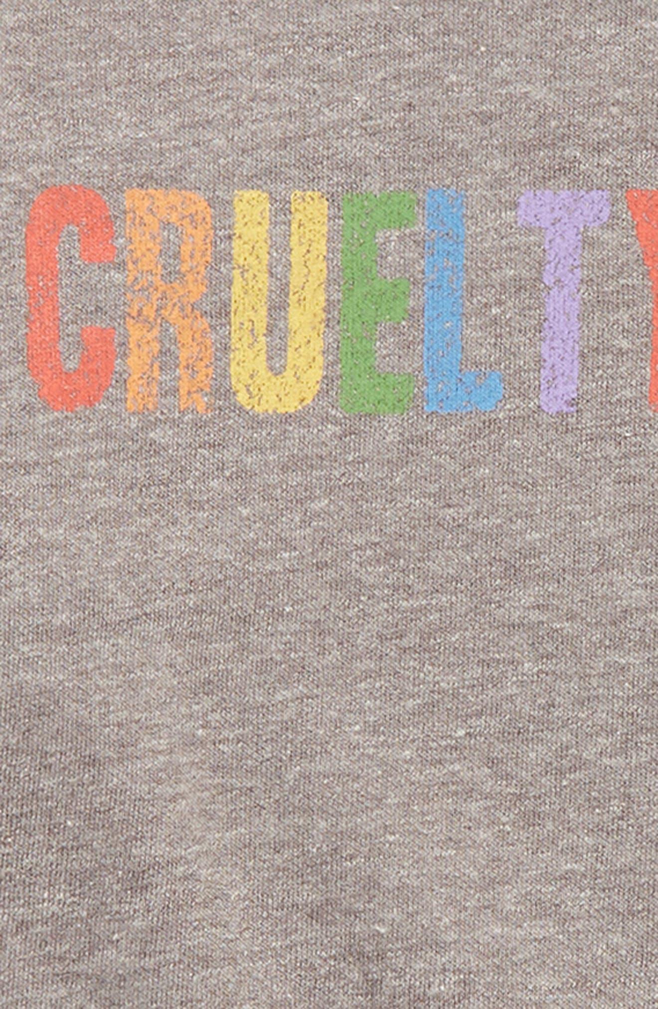 SUB_URBAN RIOT,                             Free Graphic Crop Sweatshirt,                             Alternate thumbnail 2, color,                             HEATHER GRAY
