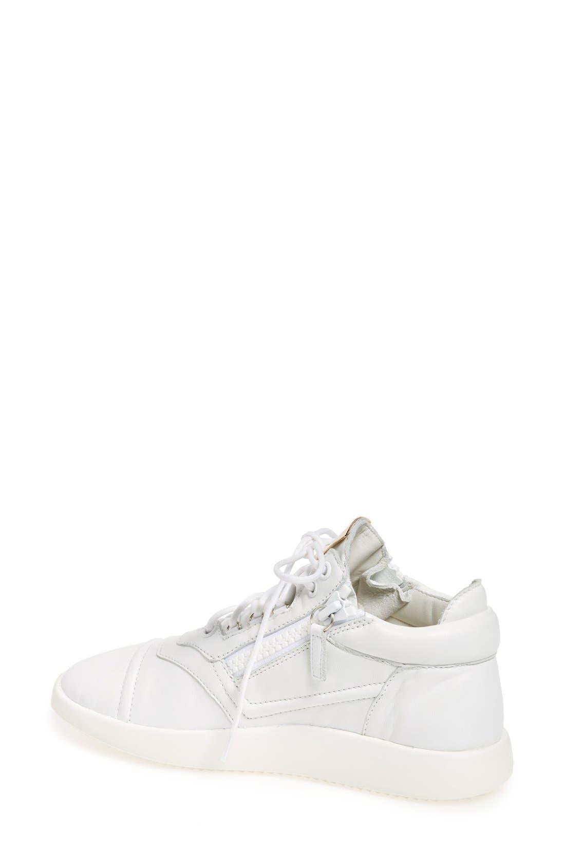 Side Zip Low Top Sneaker,                             Alternate thumbnail 2, color,                             100