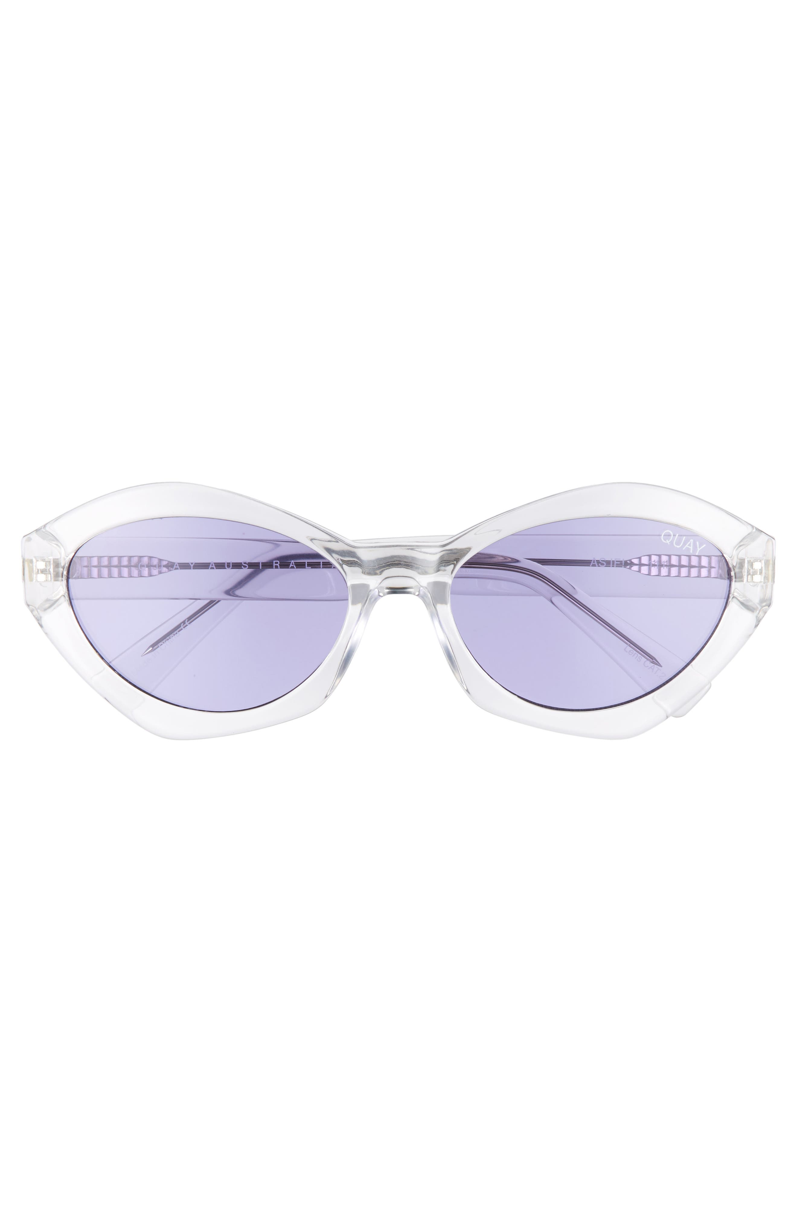 54mm As If Oval Sunglasses,                             Alternate thumbnail 3, color,                             100