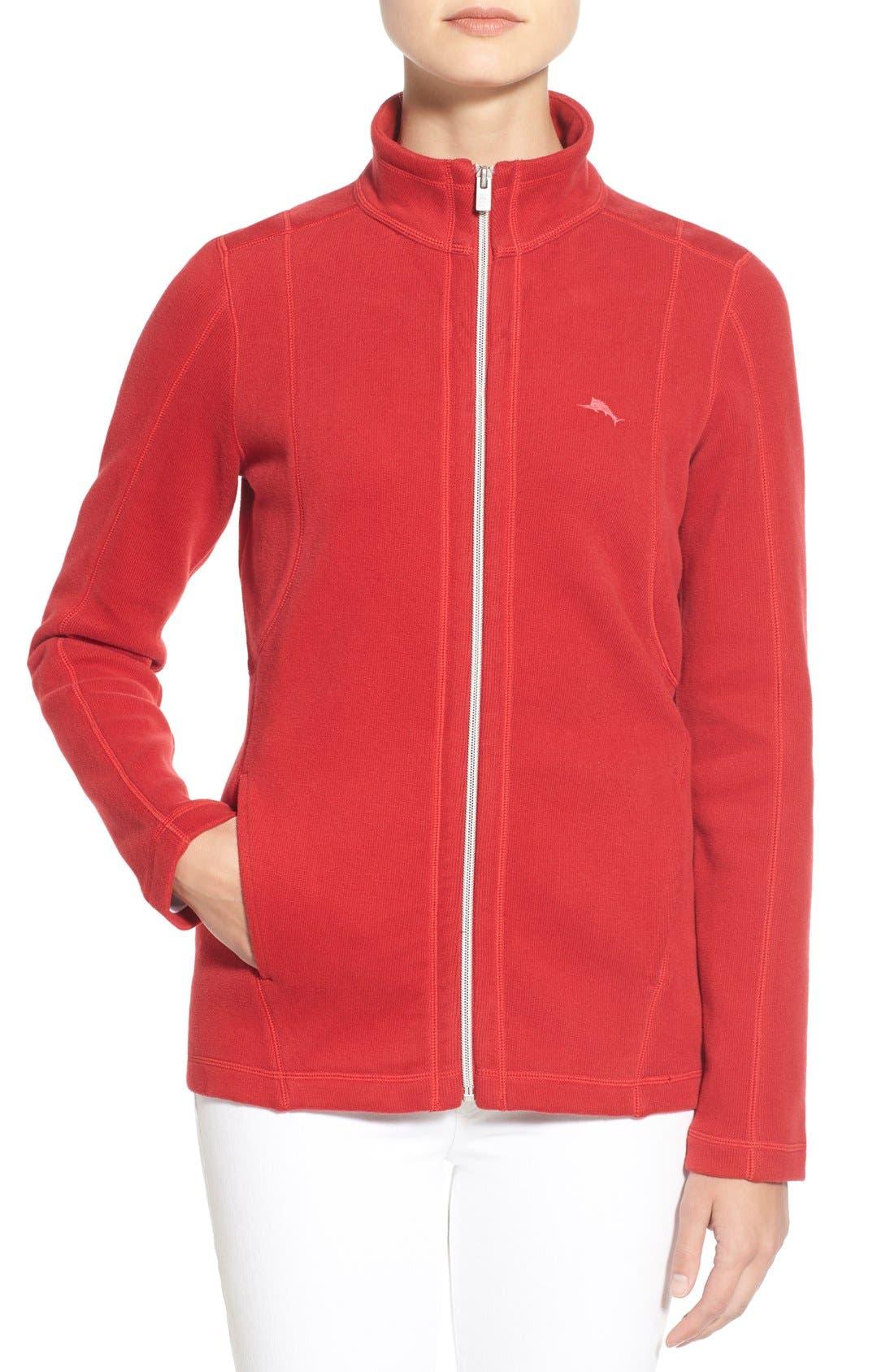 'Aruba' Full Zip Sweatshirt,                             Main thumbnail 5, color,