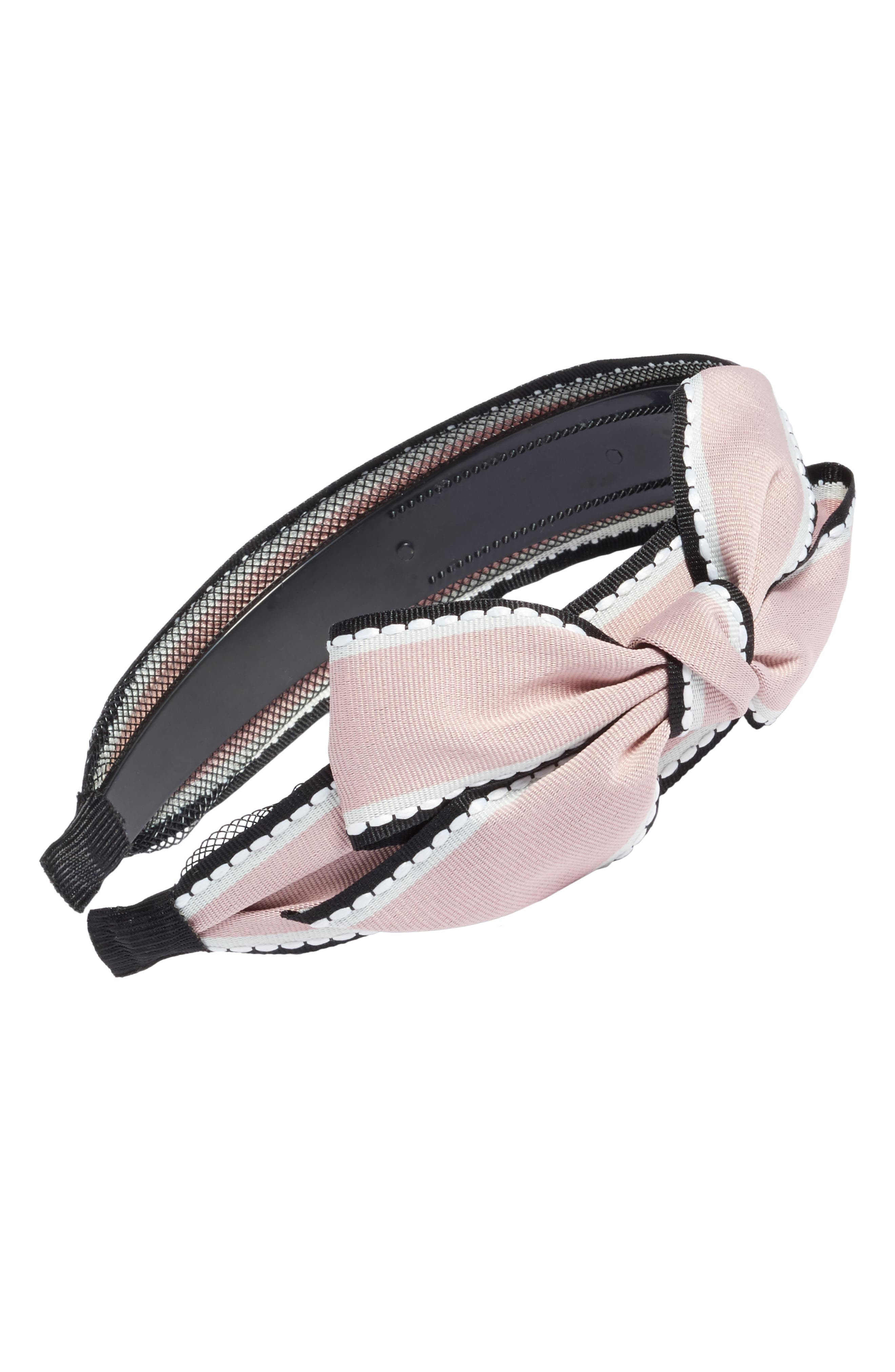 Big Bow Stripe Headband,                             Main thumbnail 3, color,