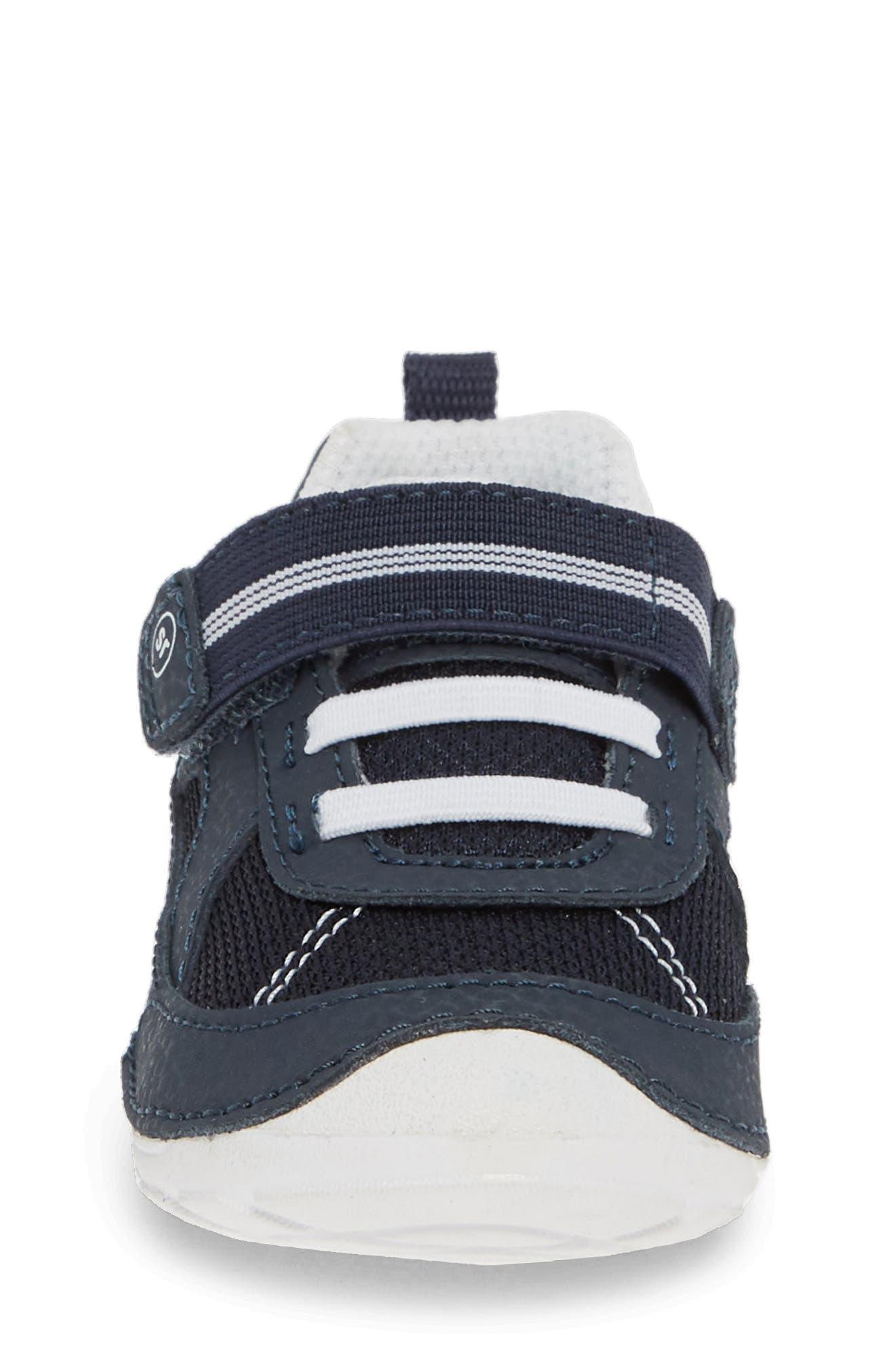 STRIDE RITE,                             Soft Motion<sup>™</sup> Jamie Sneaker,                             Alternate thumbnail 4, color,                             NAVY/ WHITE