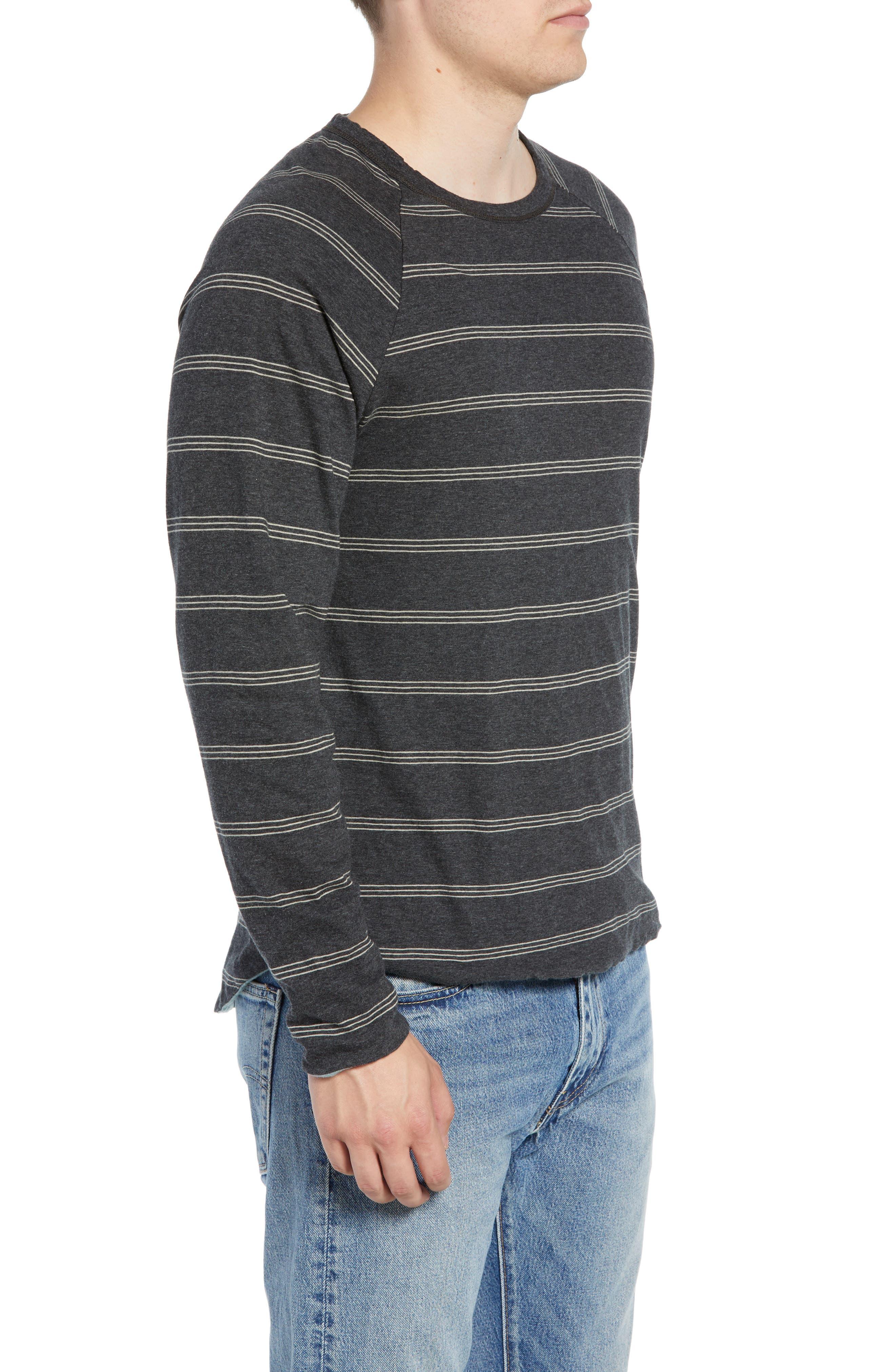 Gunnison Reversible Raglan Sleeve T-Shirt,                             Alternate thumbnail 4, color,                             PHANTOM HEATHER