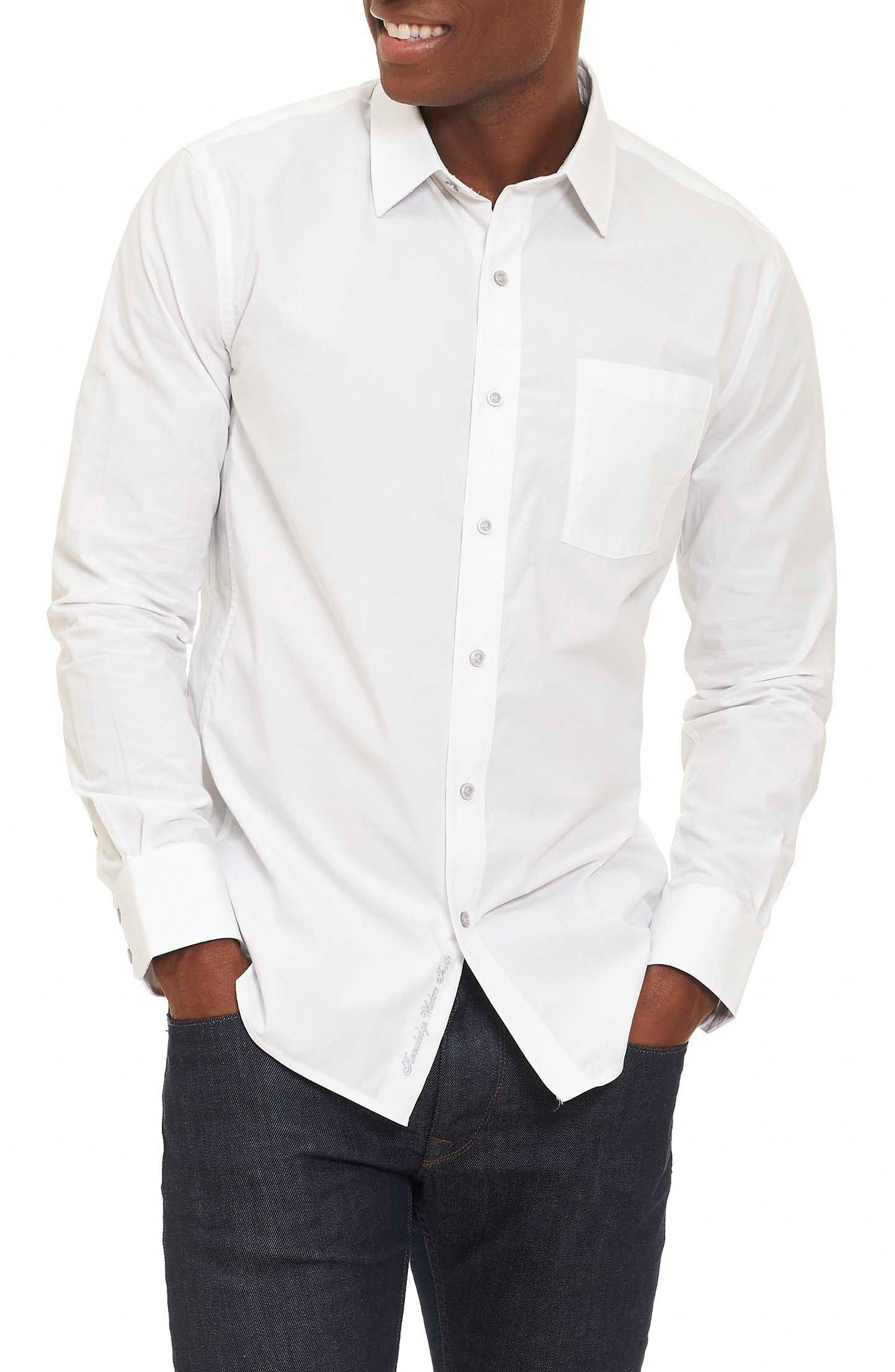 Groves Tailored Fit Sport Shirt,                         Main,                         color, 100