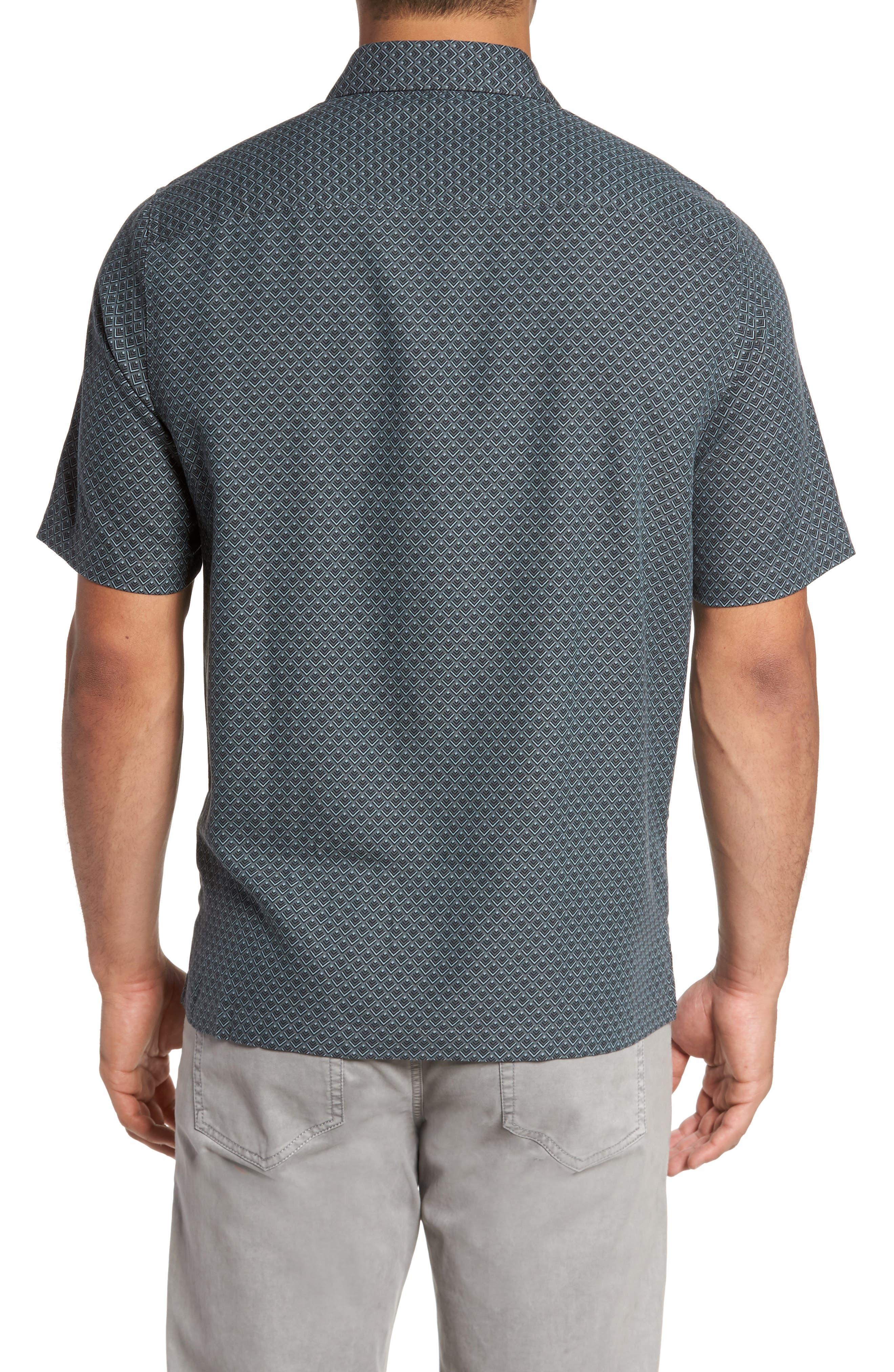 Ajax Classic Fit Silk Blend Camp Shirt,                             Alternate thumbnail 2, color,                             001