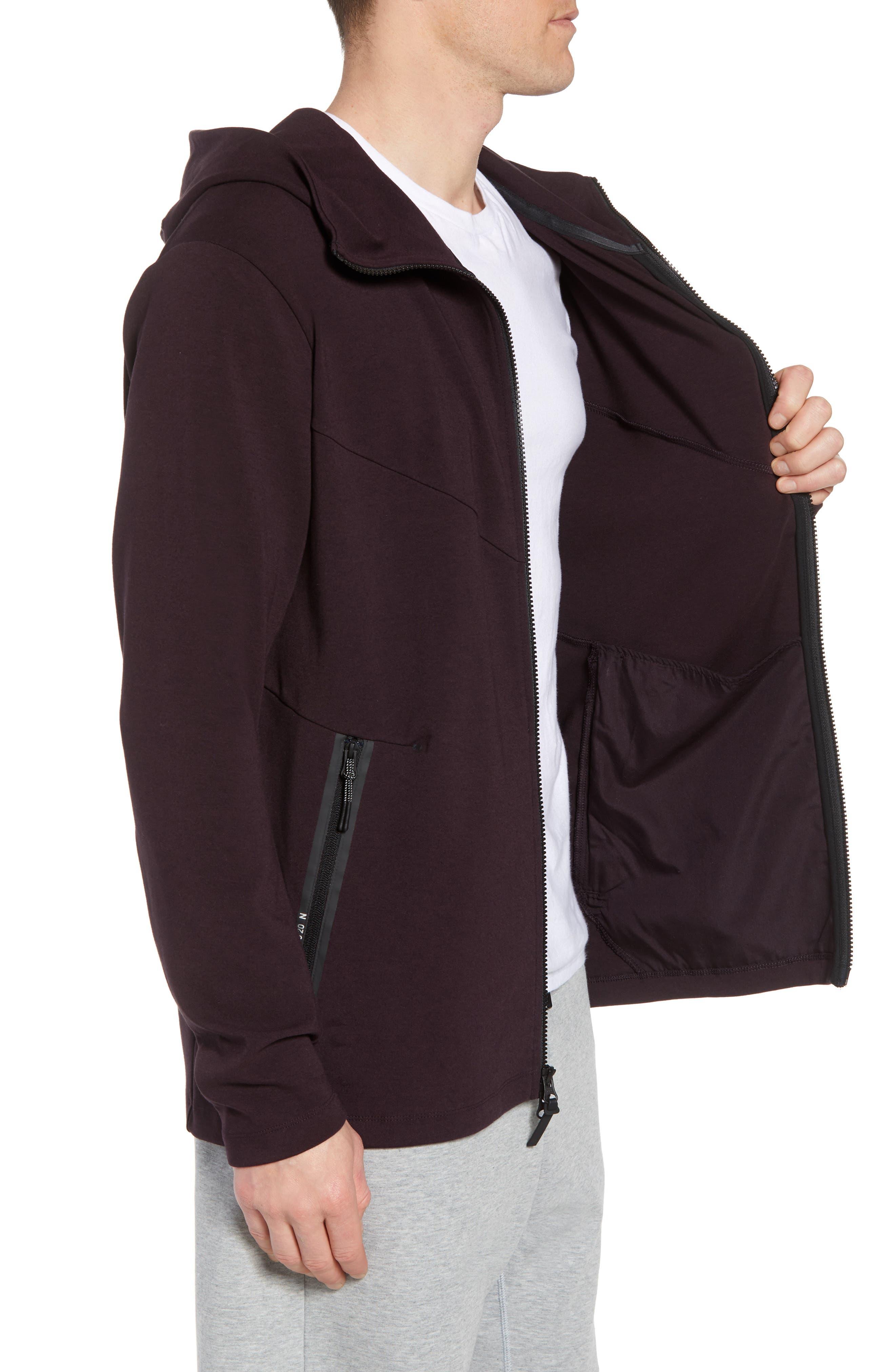 Sportswear Tech Full Zip Hoodie,                             Alternate thumbnail 3, color,                             BLACK/ BLACK
