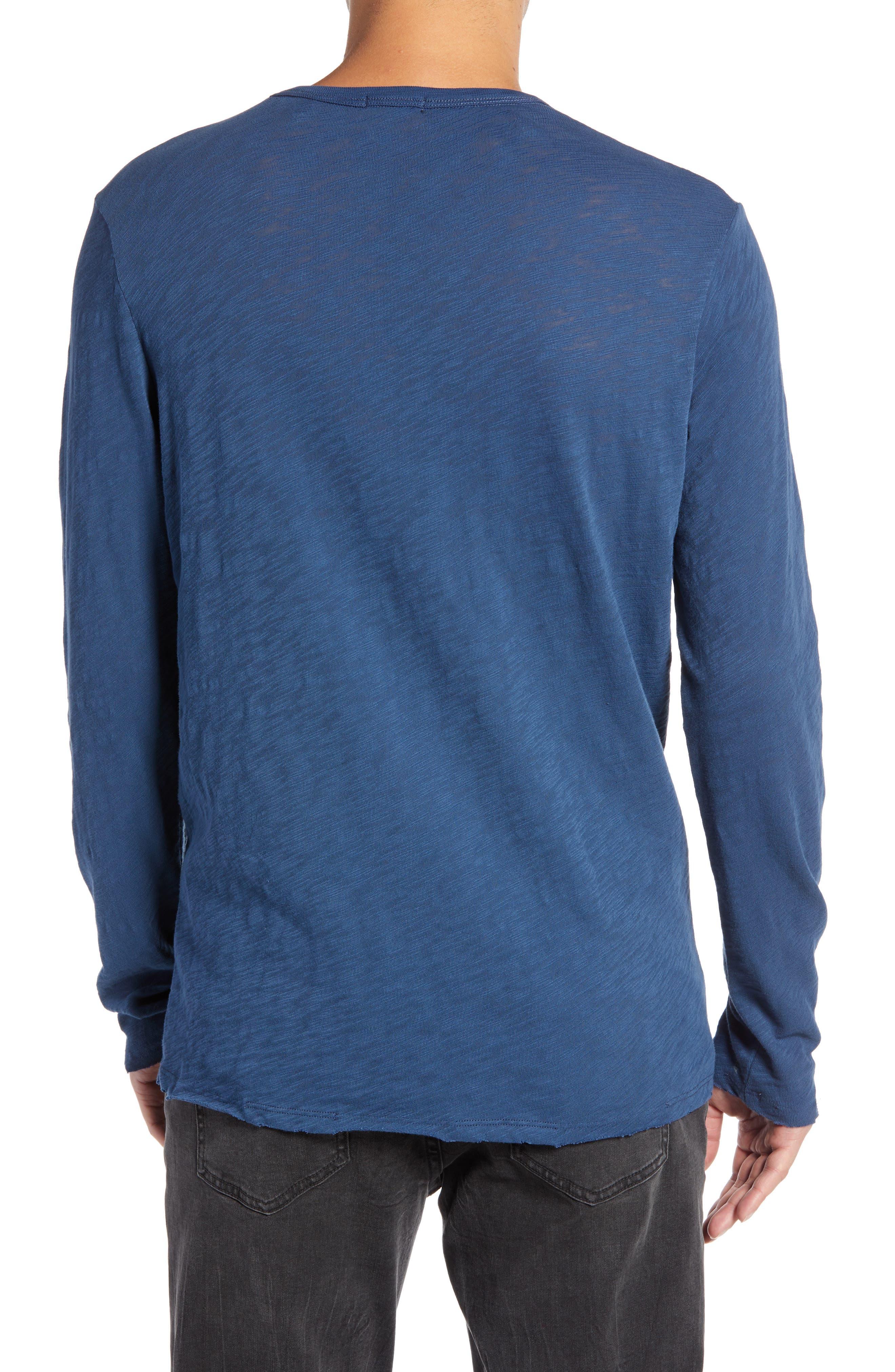 Destroyed Long Sleeve T-Shirt,                             Alternate thumbnail 2, color,                             DEEP OCEAN