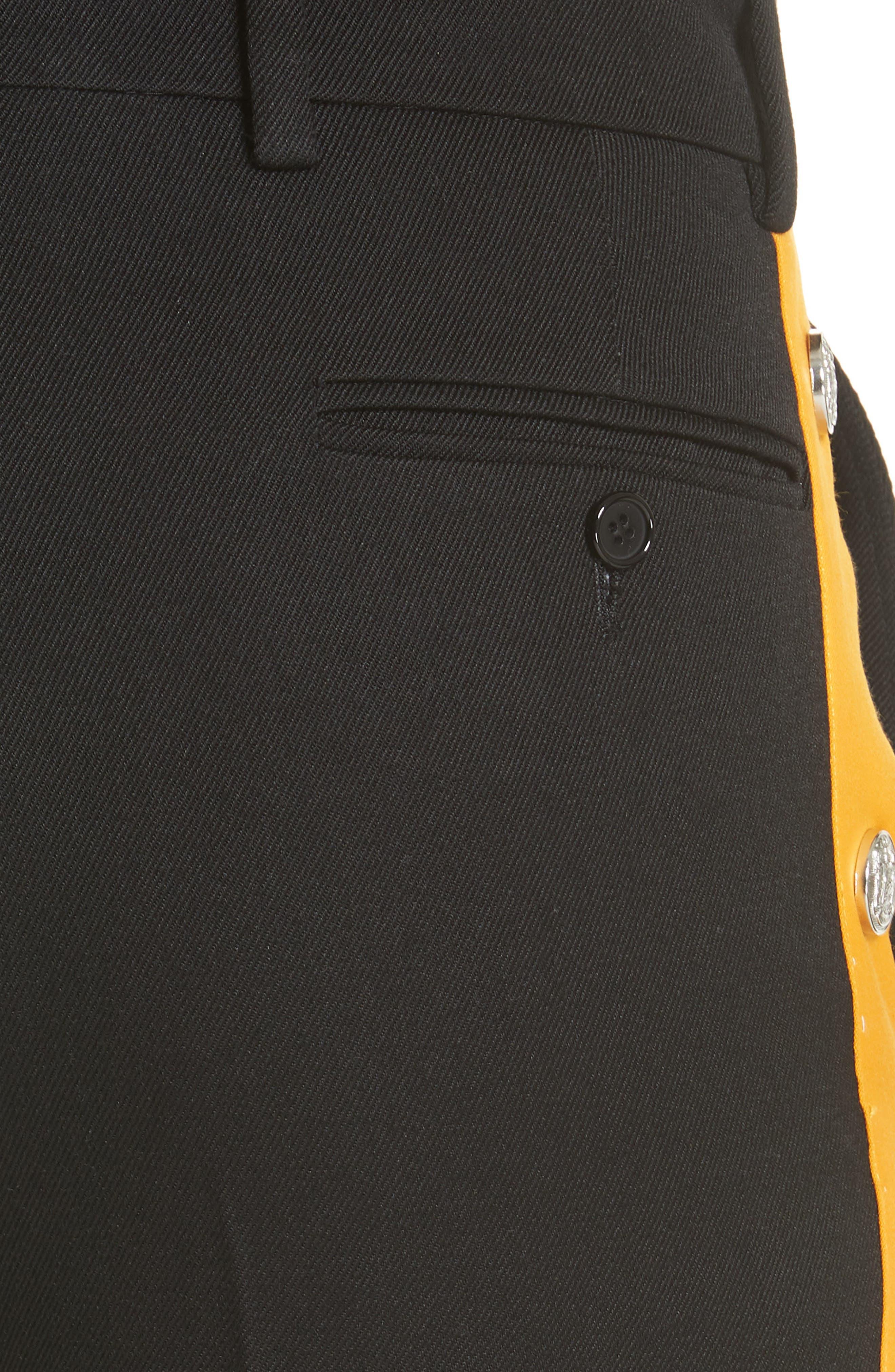 Breakaway Pants,                             Alternate thumbnail 5, color,                             BLACK/ TANGARINE