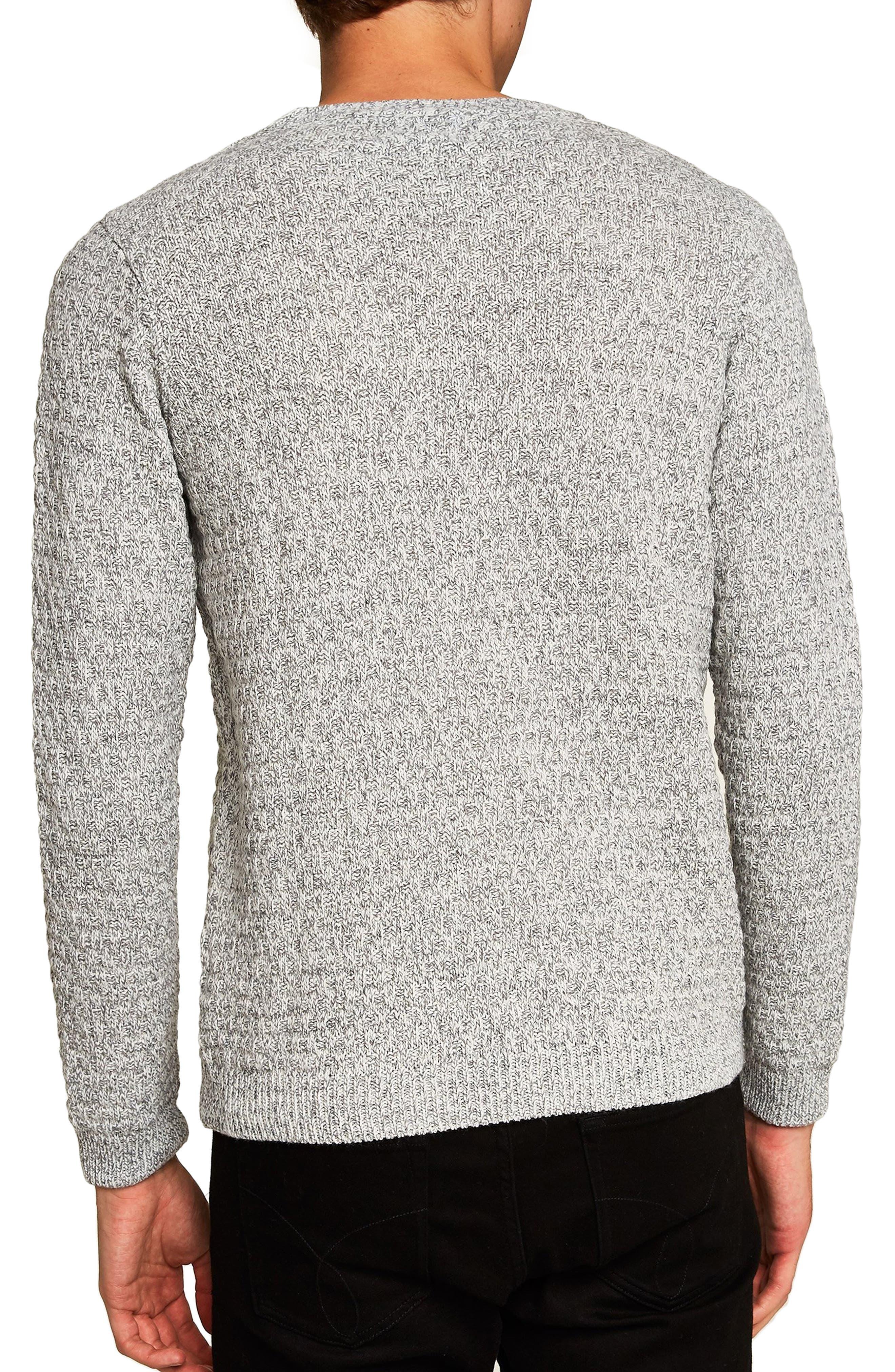 Textured Crewneck Sweater,                             Alternate thumbnail 2, color,                             GREY
