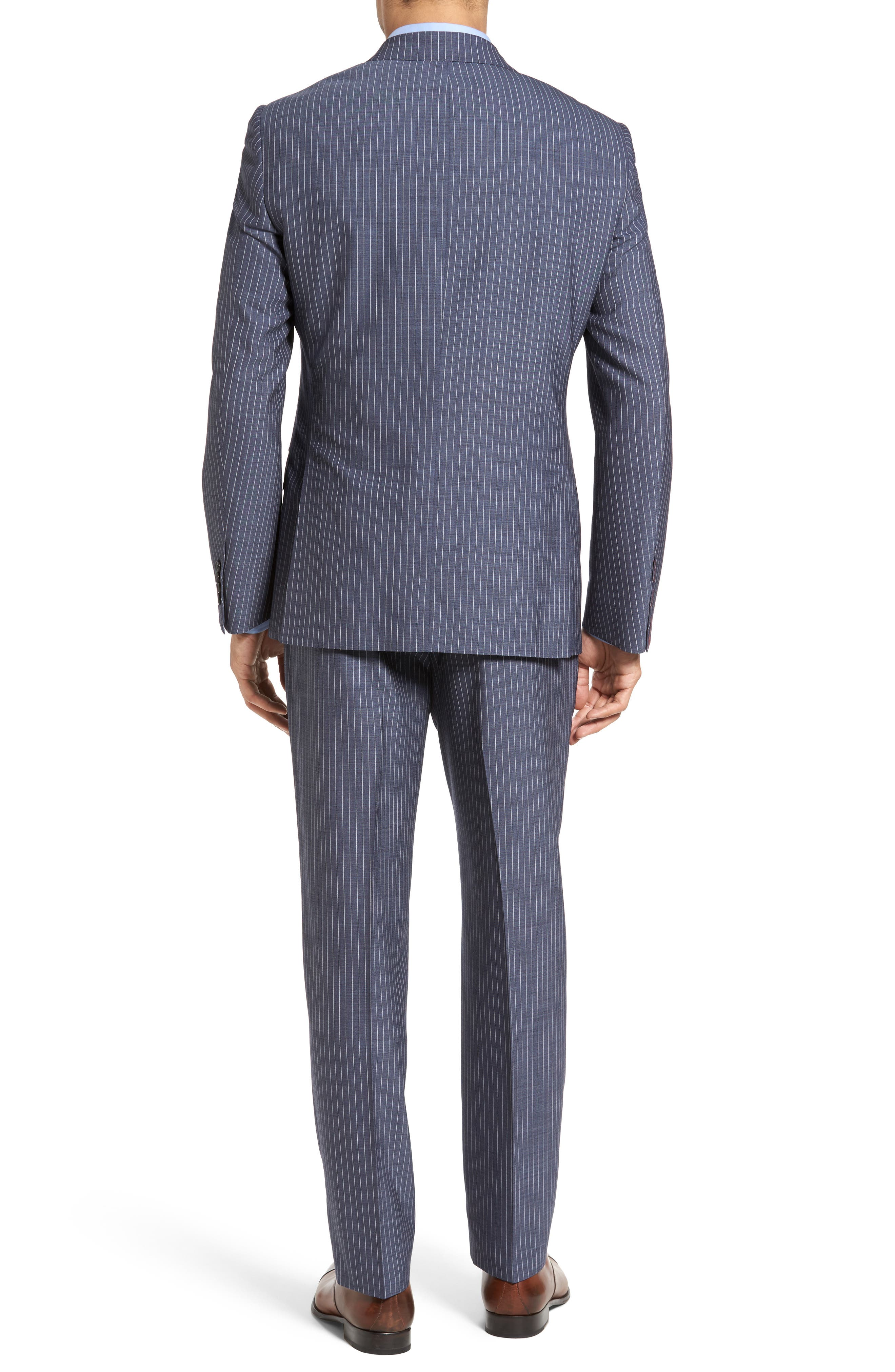 Beckett Classic Fit Stripe Wool Suit,                             Alternate thumbnail 2, color,                             450