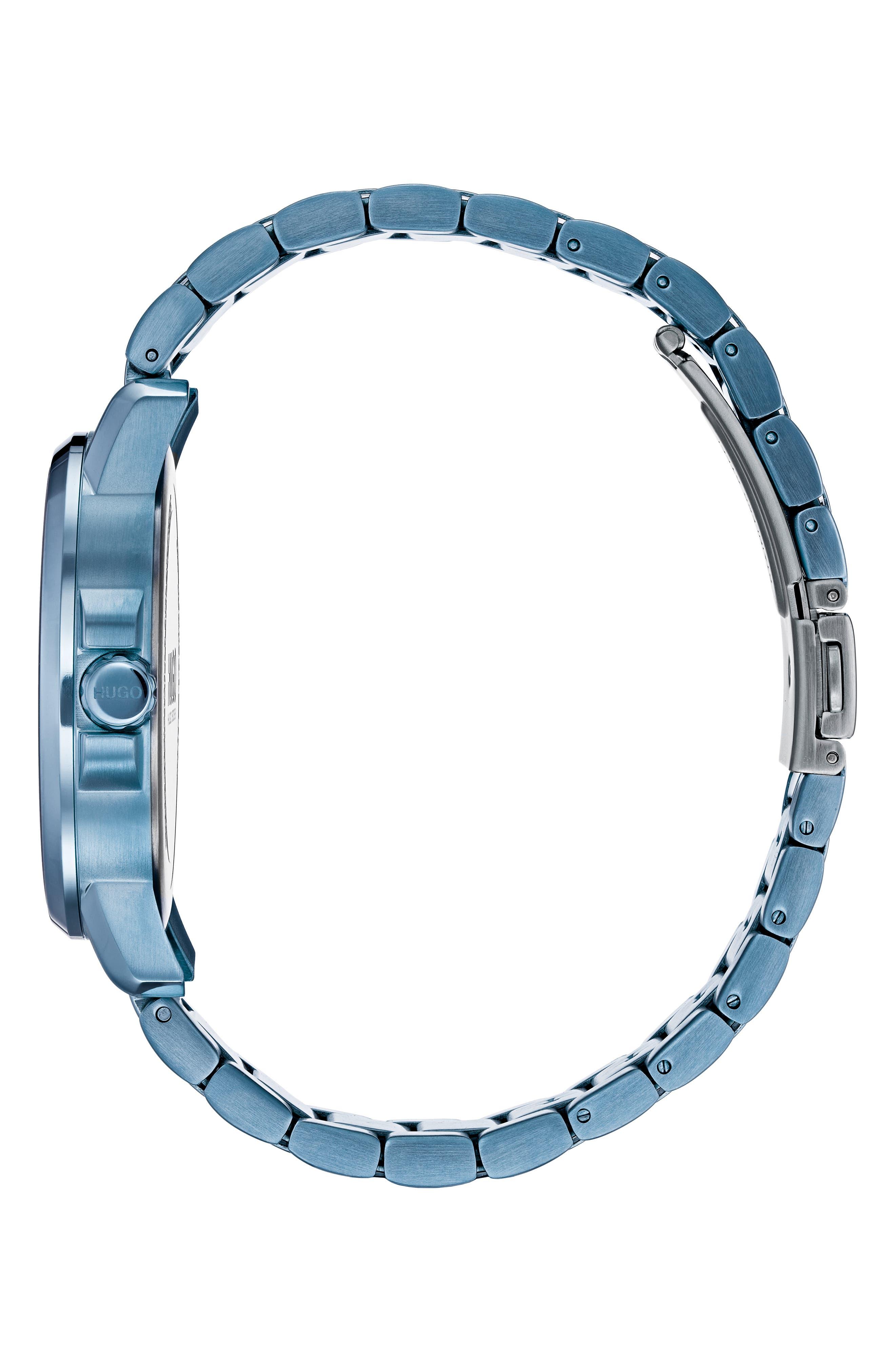 Focus Bracelet Watch, 42mm,                             Alternate thumbnail 3, color,                             GREY