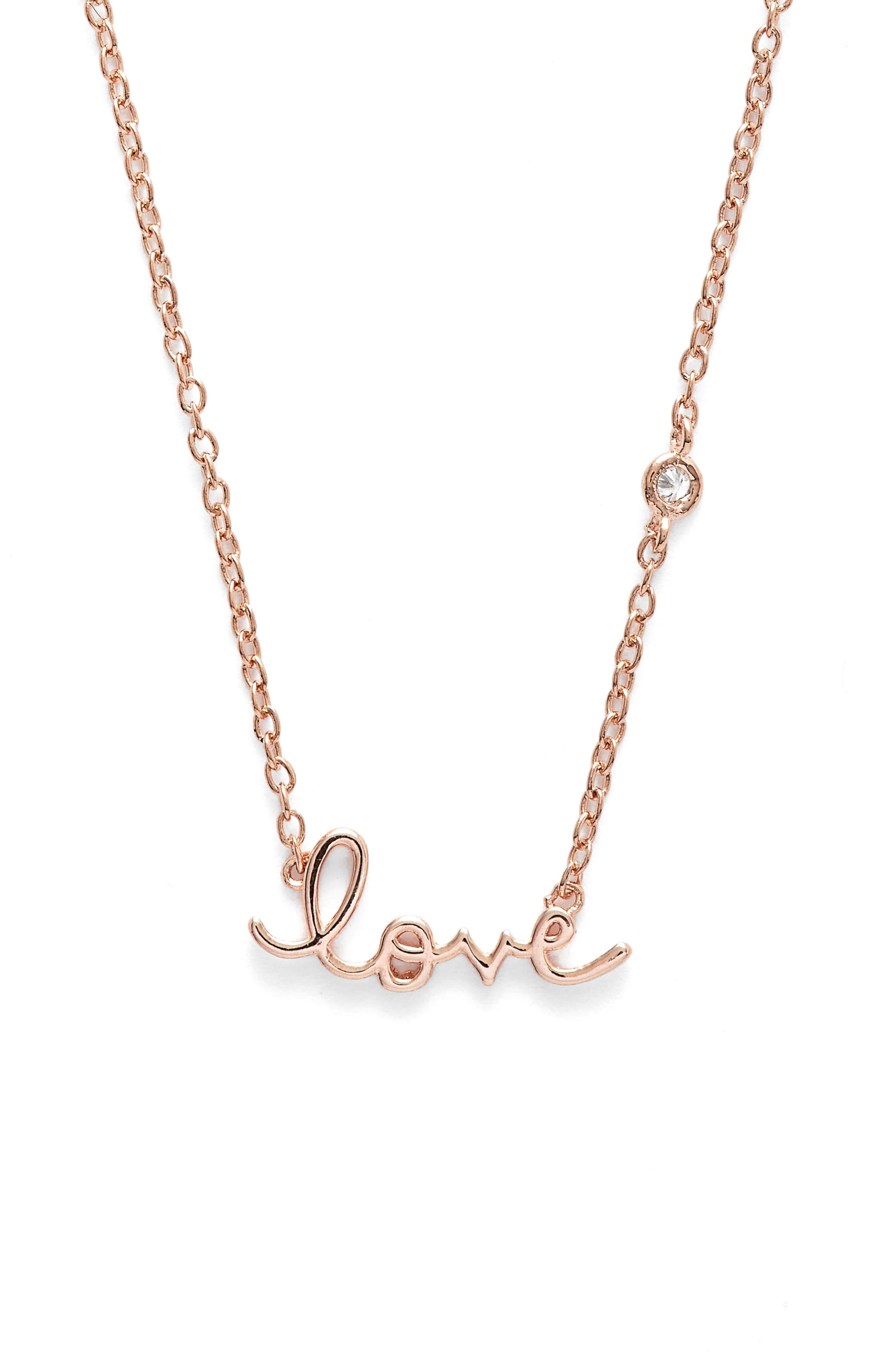 SYD BY SYDNEY EVAN,                             Love Necklace,                             Main thumbnail 1, color,                             712