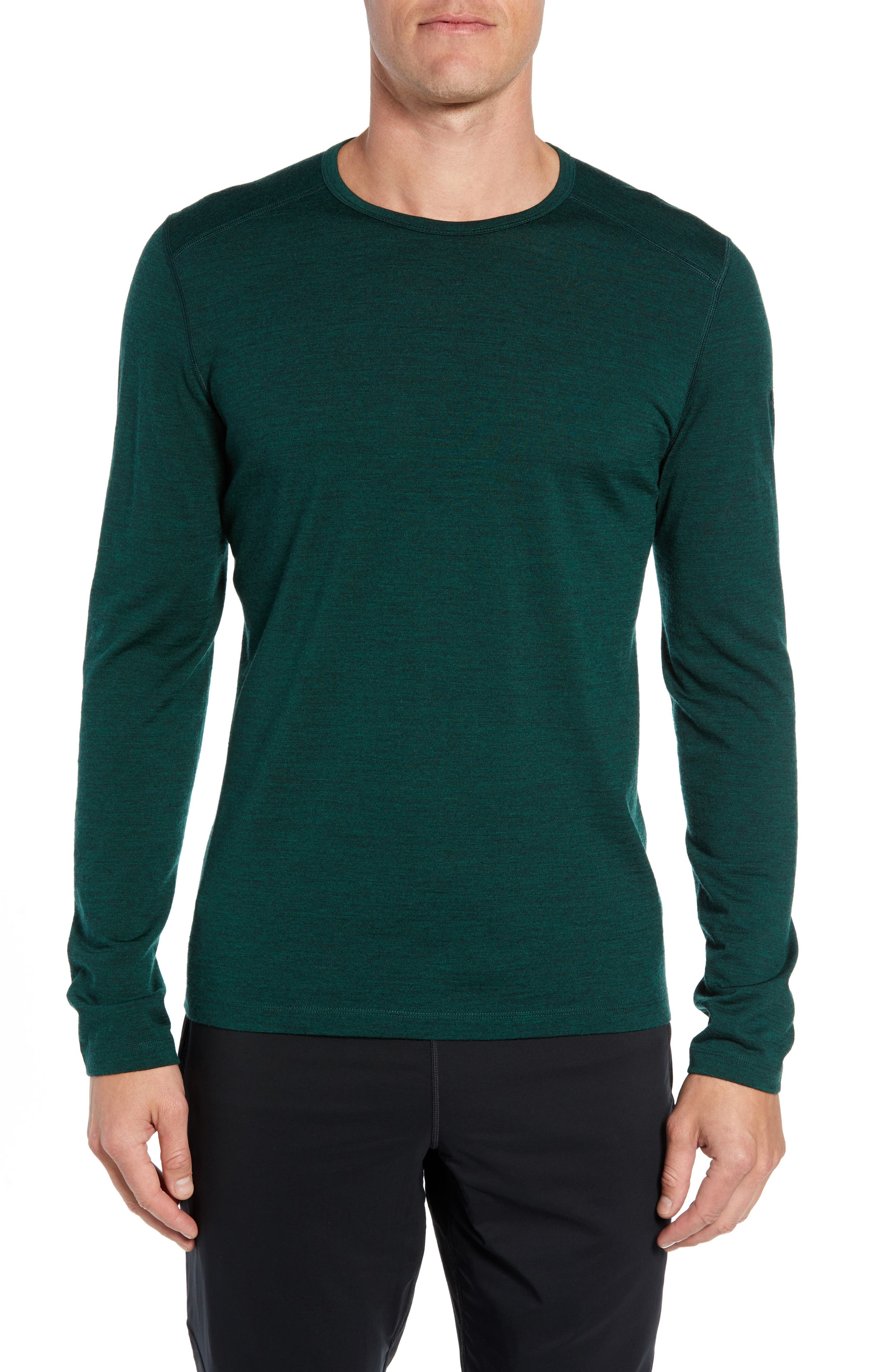 Oasis Slim Merino Wool T-Shirt,                         Main,                         color, IMPERIAL HEATHER