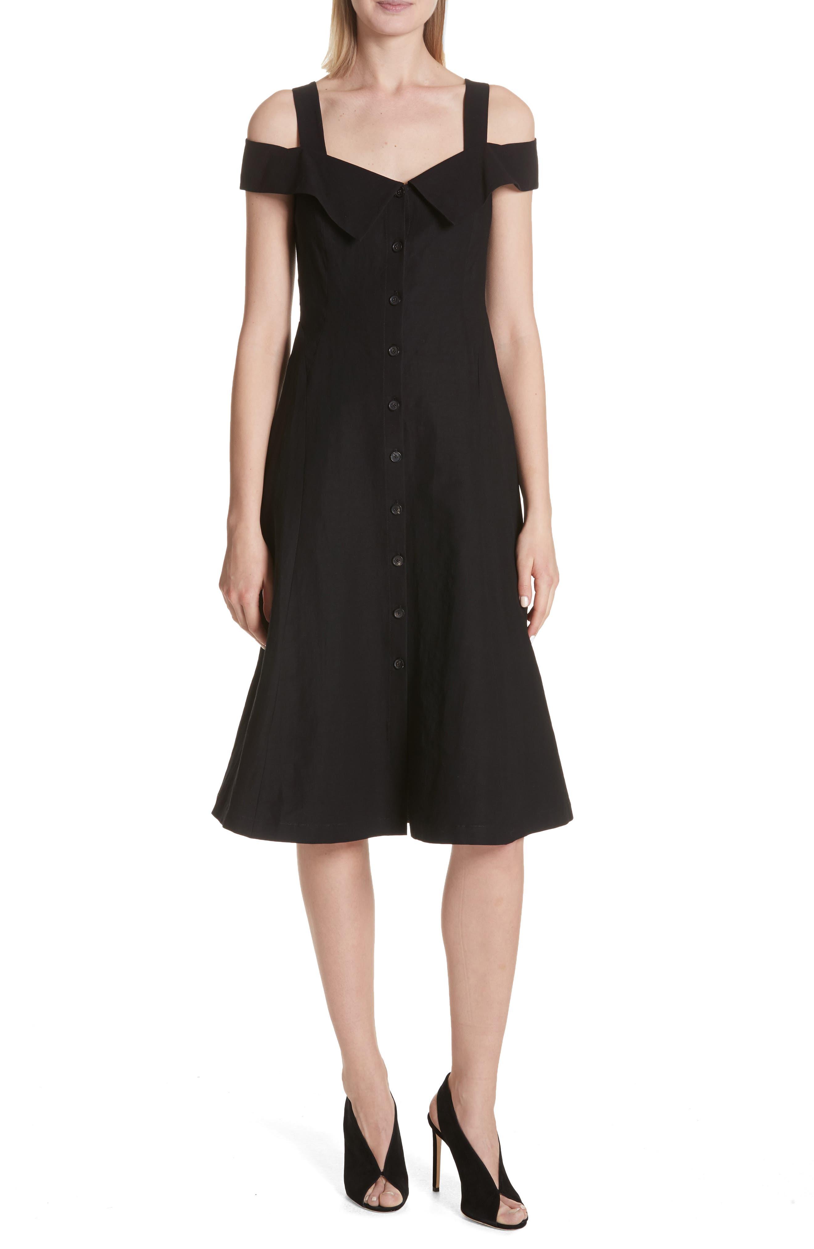 Hudson Cold Shoulder Dress,                             Main thumbnail 1, color,                             001