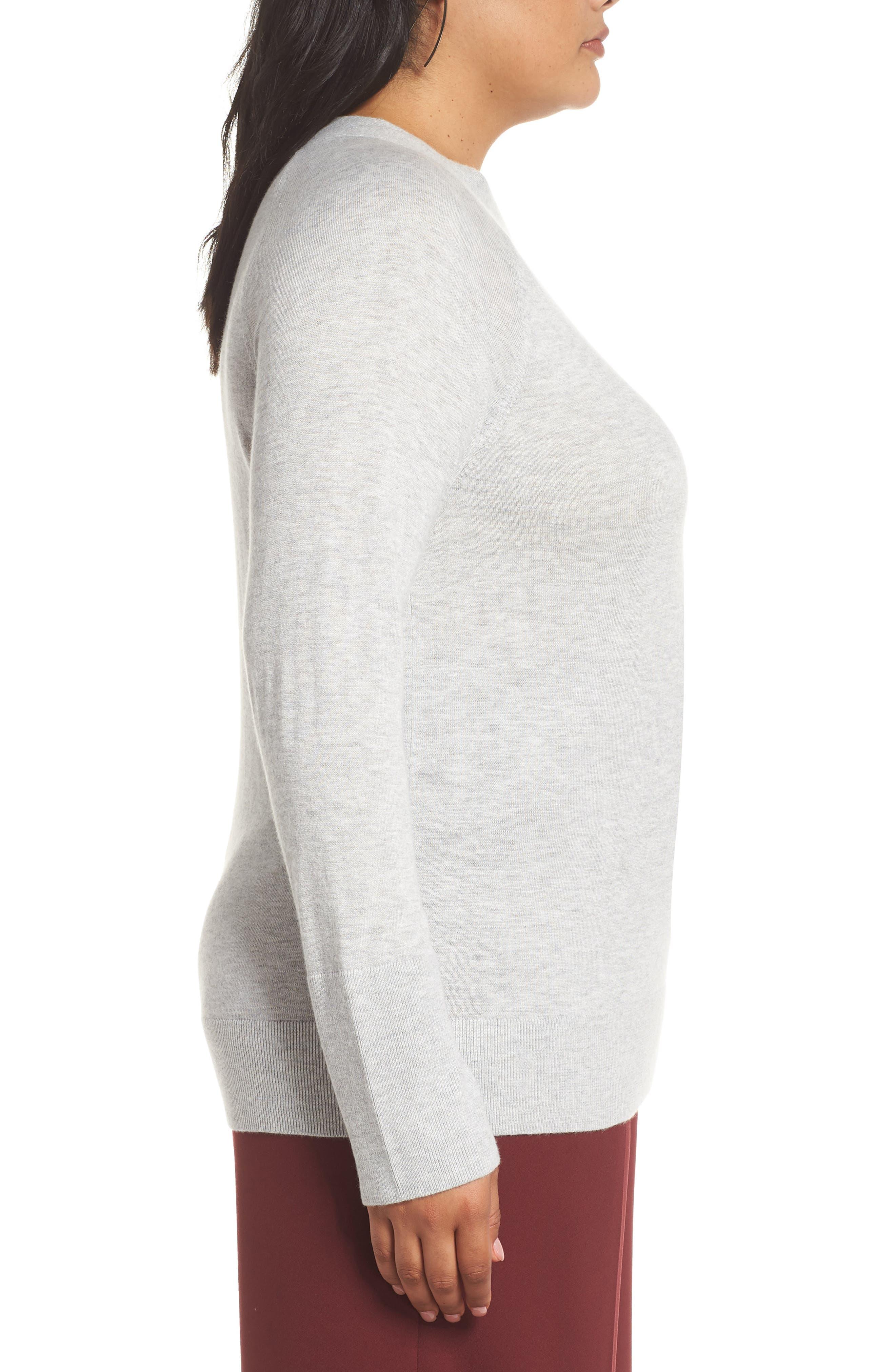 Mock Neck Sweater,                             Alternate thumbnail 3, color,                             050