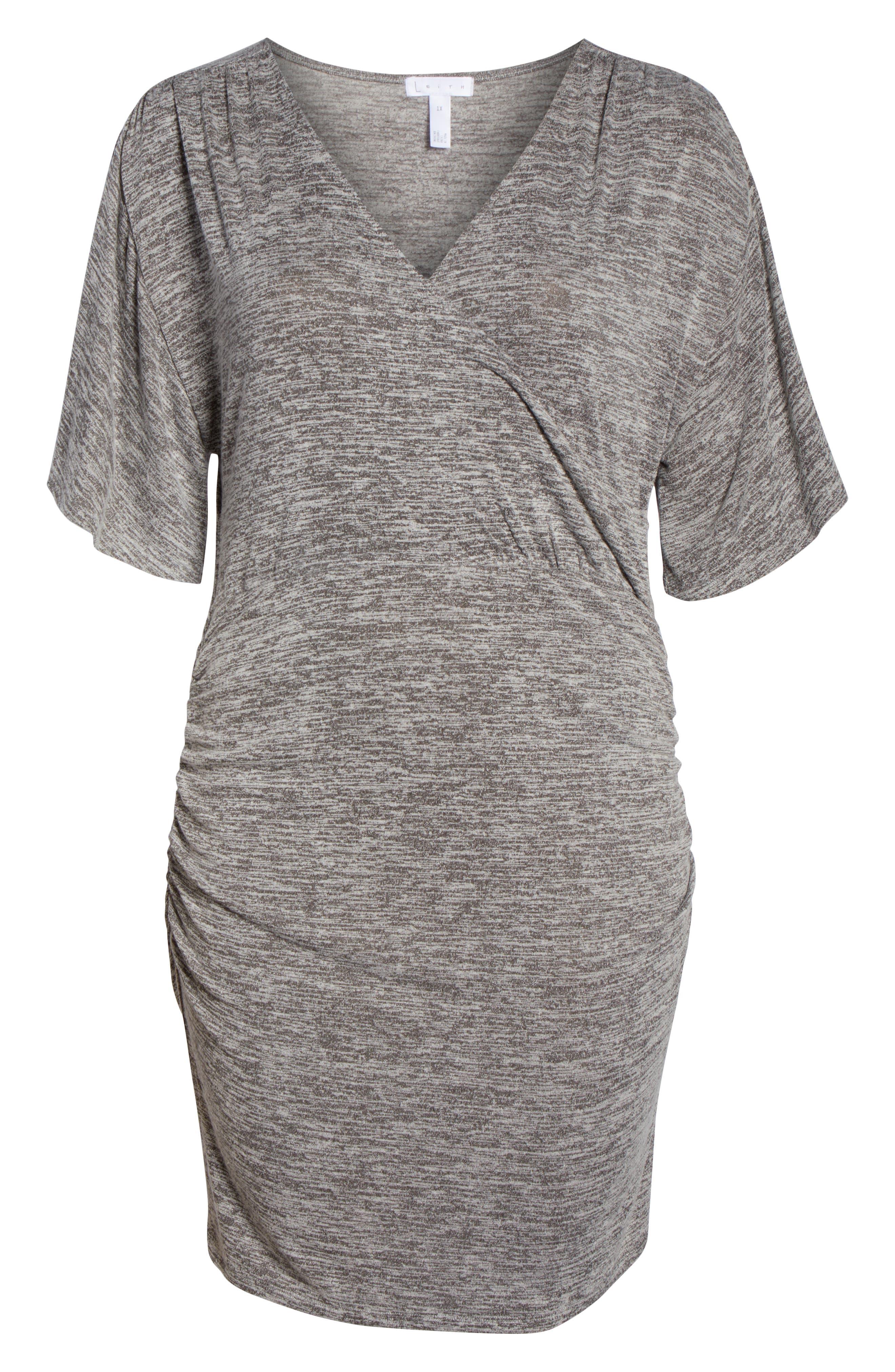 Wrap Dress,                             Alternate thumbnail 12, color,                             GREY CLOUDY HEATHER