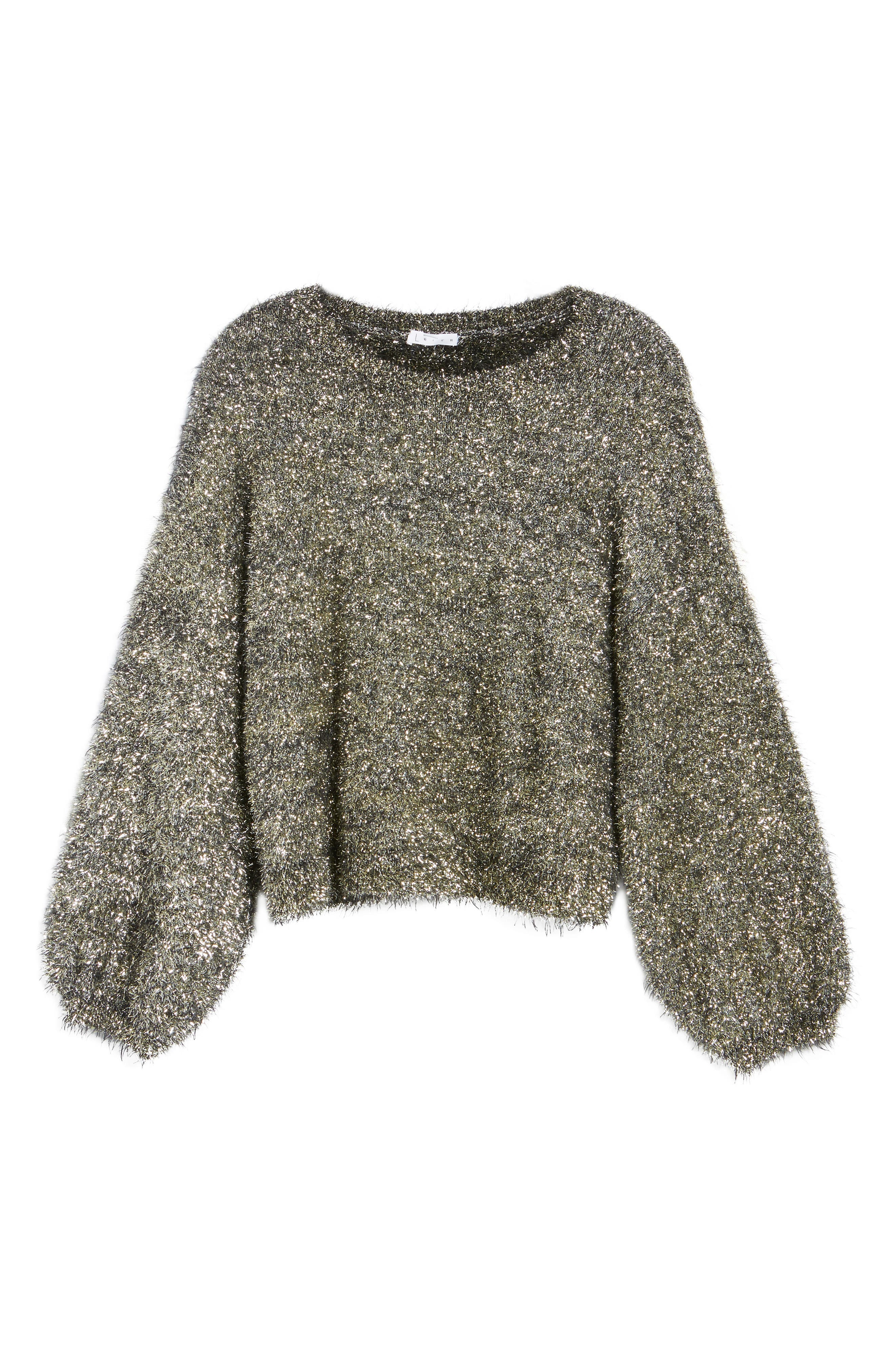 Fluffy Sparkle Sweater,                             Alternate thumbnail 6, color,                             710