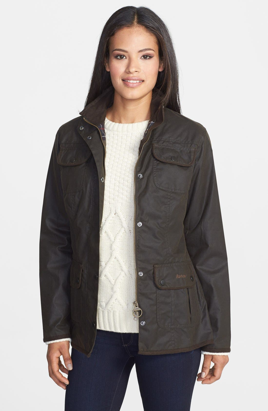 Waxed Cotton Utility Jacket,                             Main thumbnail 1, color,                             340
