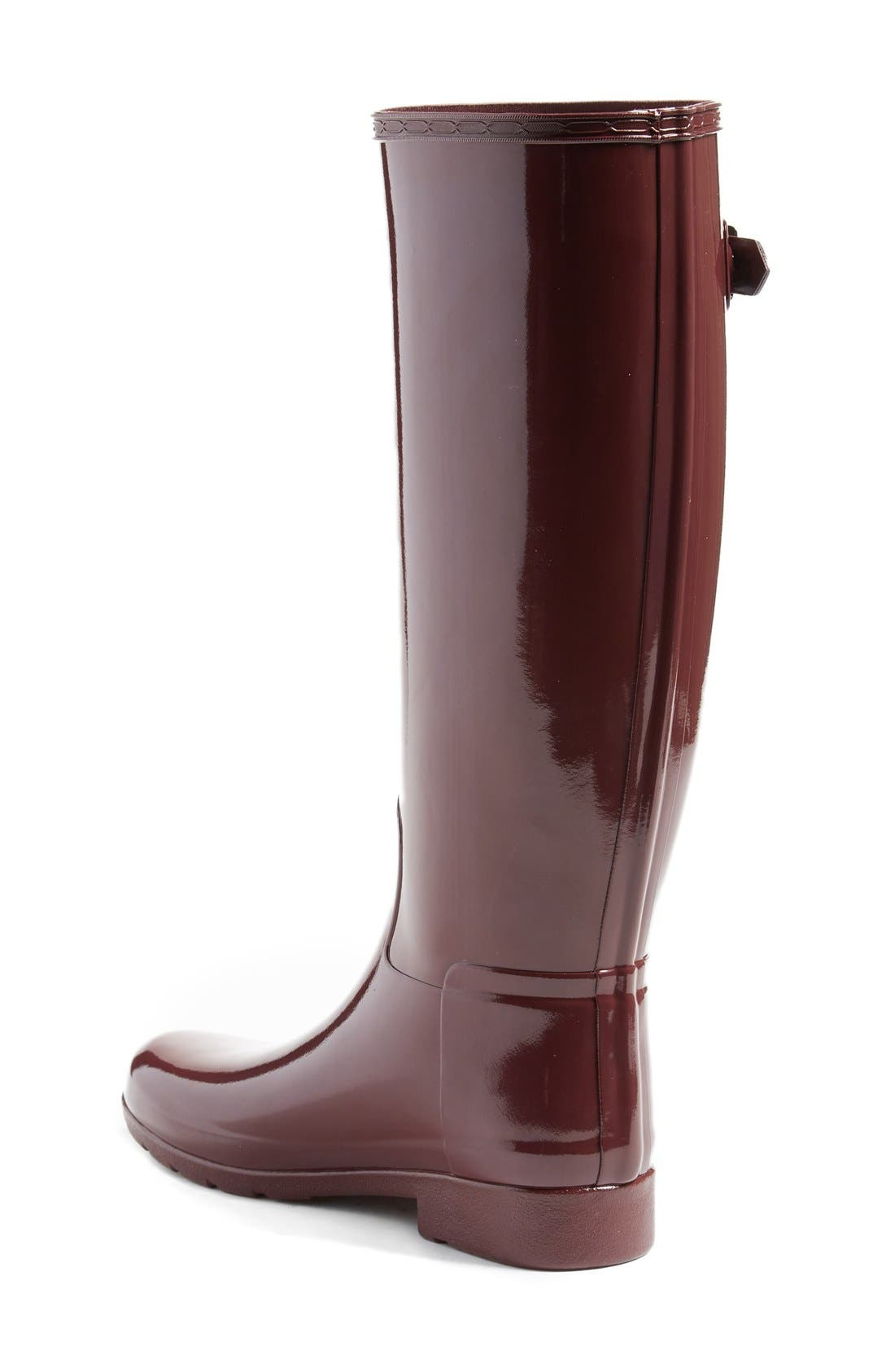 'Original Refined' High Gloss Rain Boot,                             Alternate thumbnail 19, color,