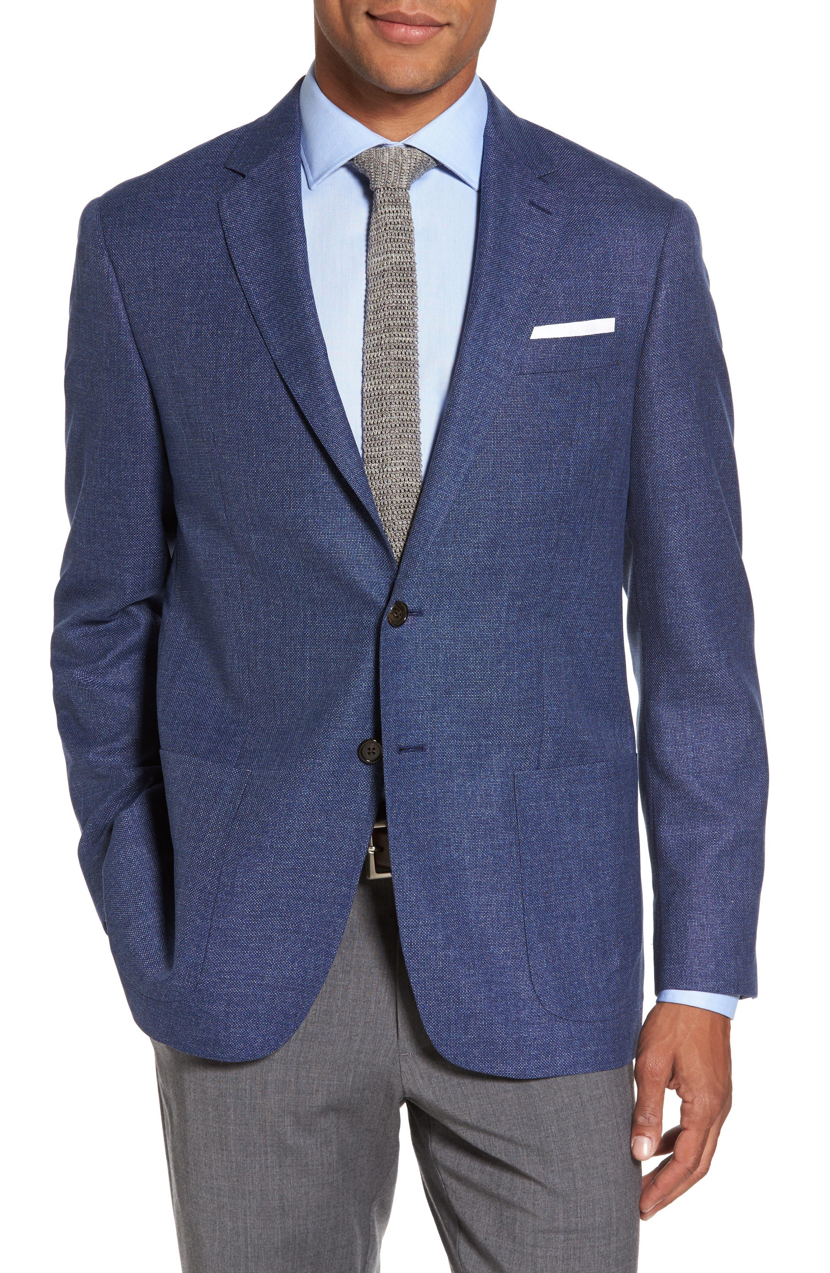 Trim Fit Wool Blazer,                         Main,                         color, 420