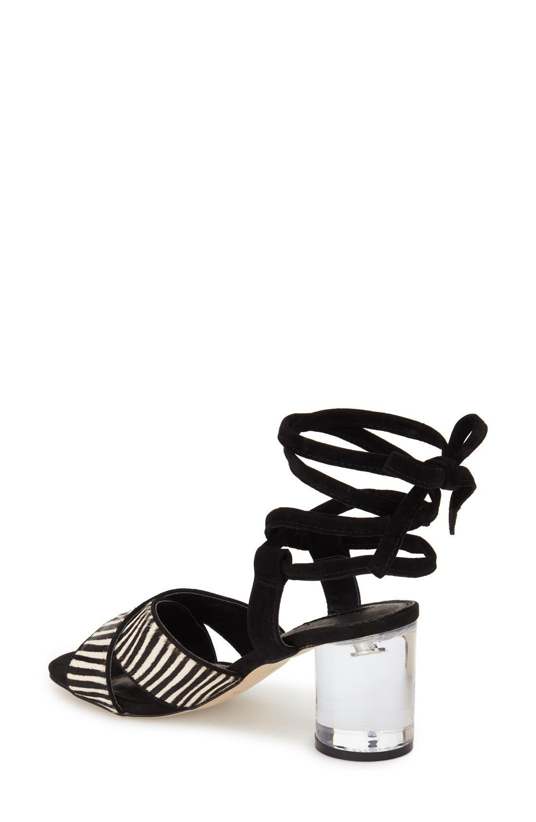 TOPSHOP,                             'Raffle' Ankle Strap Sandal,                             Alternate thumbnail 2, color,                             001