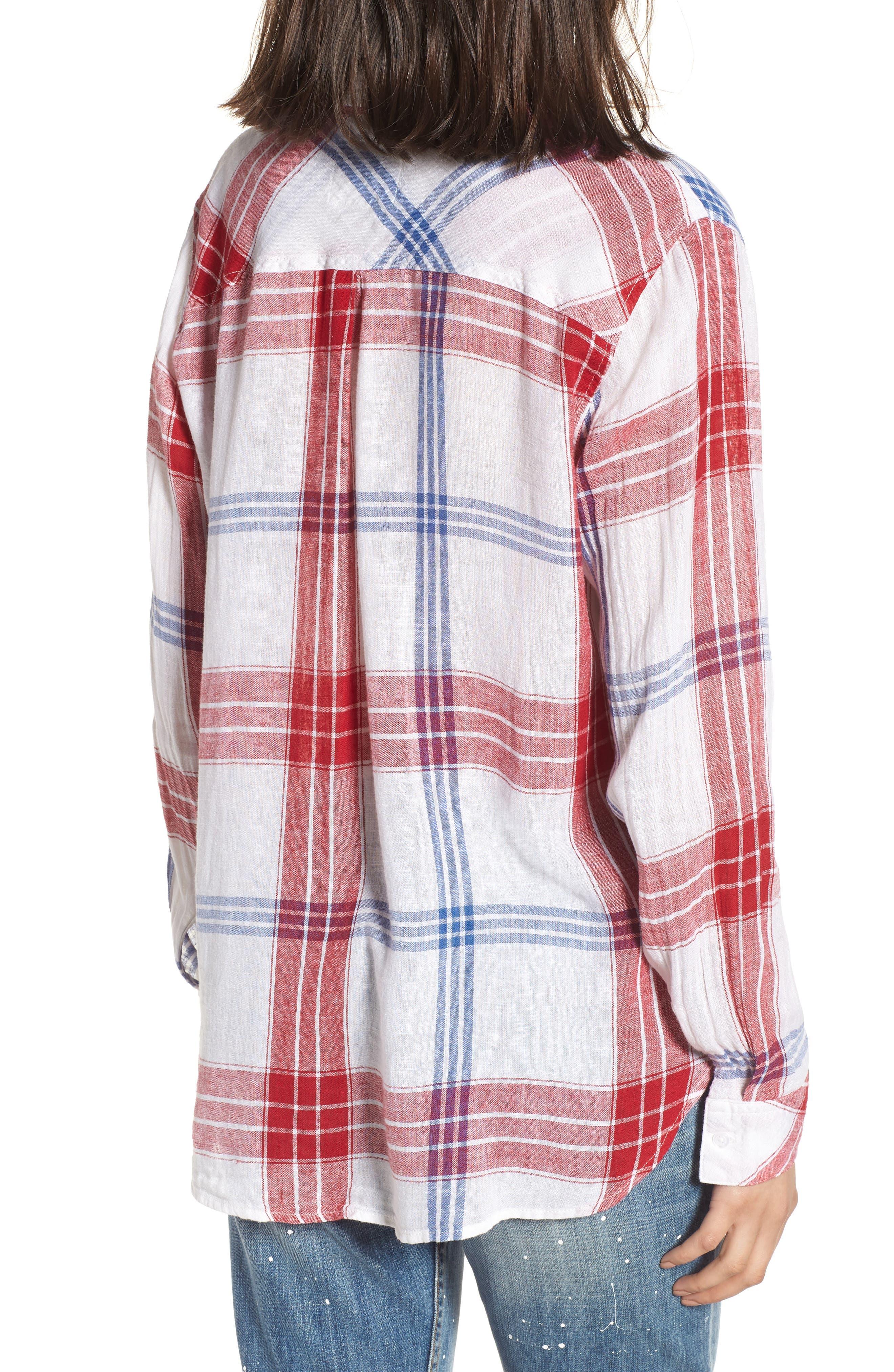 Charli Shirt,                             Alternate thumbnail 2, color,                             CARMINE BLUE WHITE