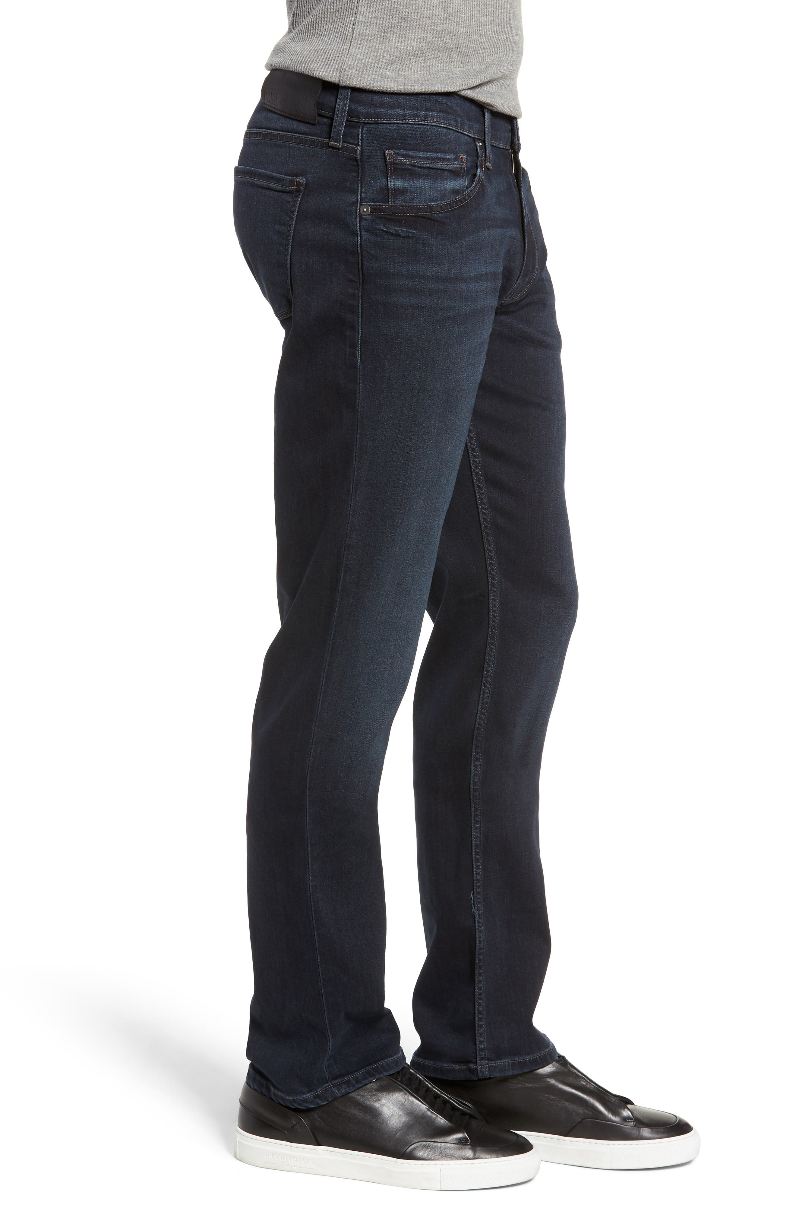 Transcend - Normandie Straight Leg Jeans,                             Alternate thumbnail 3, color,                             LARK