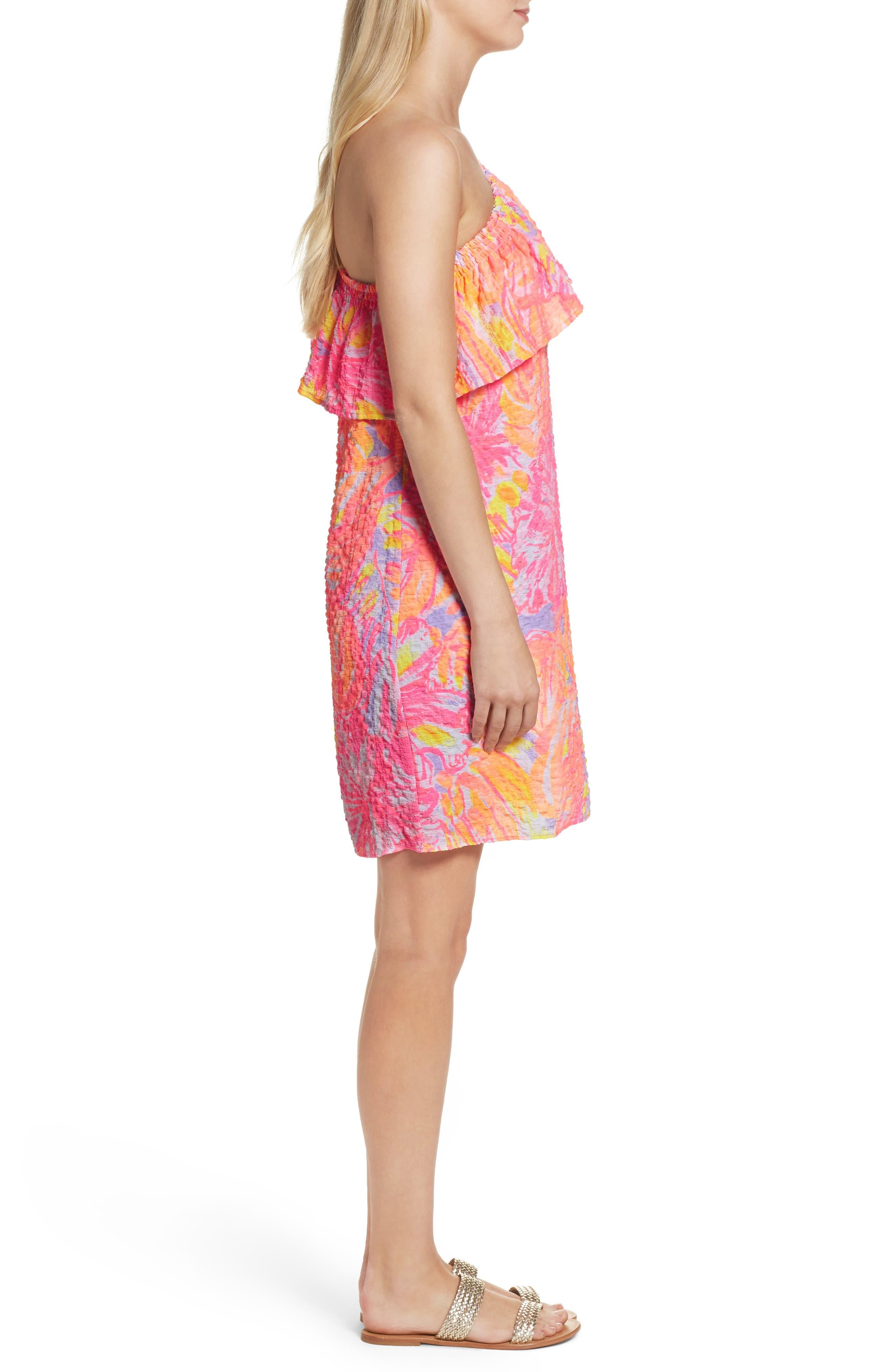 Emmeline One-Shoulder Dress,                             Alternate thumbnail 3, color,                             599