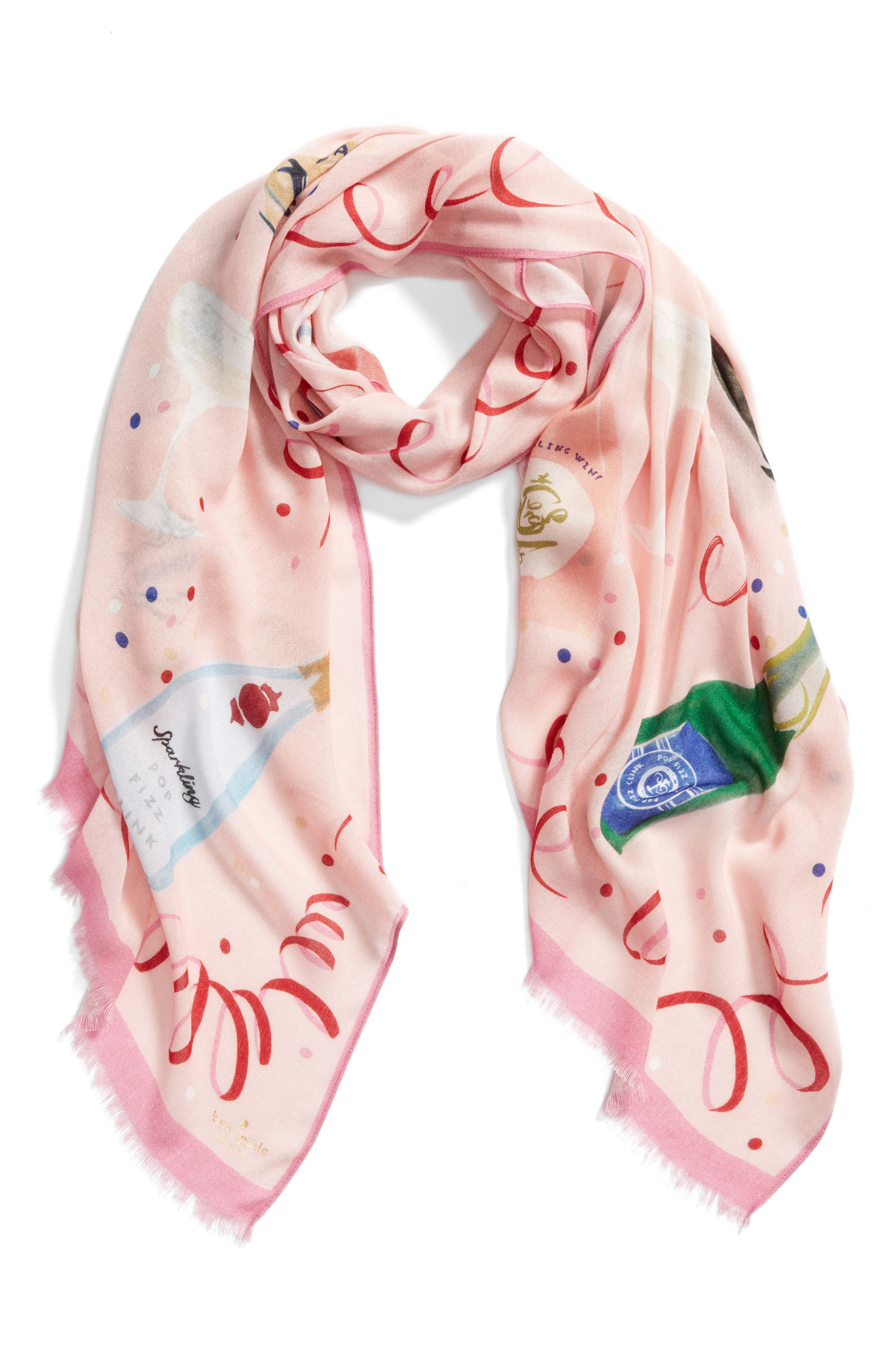 champagne oblong scarf,                             Alternate thumbnail 2, color,                             693