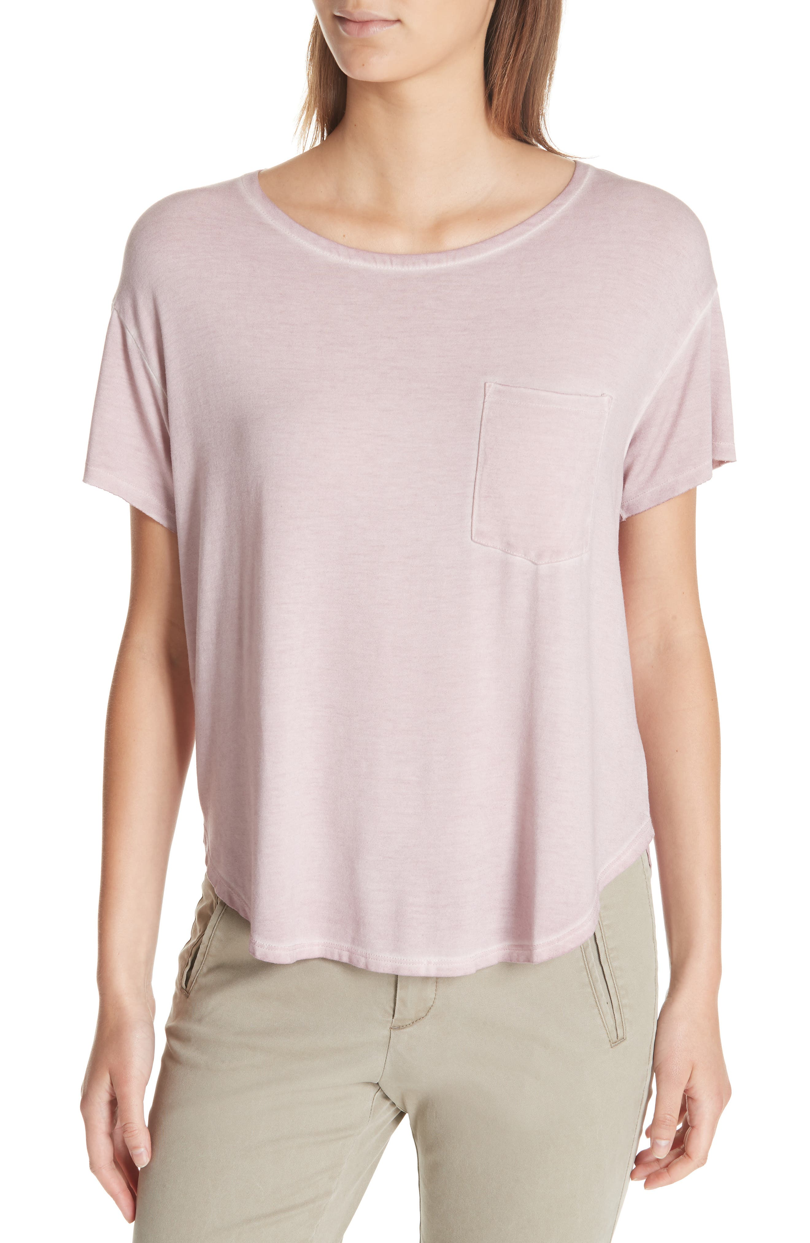 ATM ANTHONY THOMAS MELILLO Sun Bleached Pocket Tee, Main, color, 657