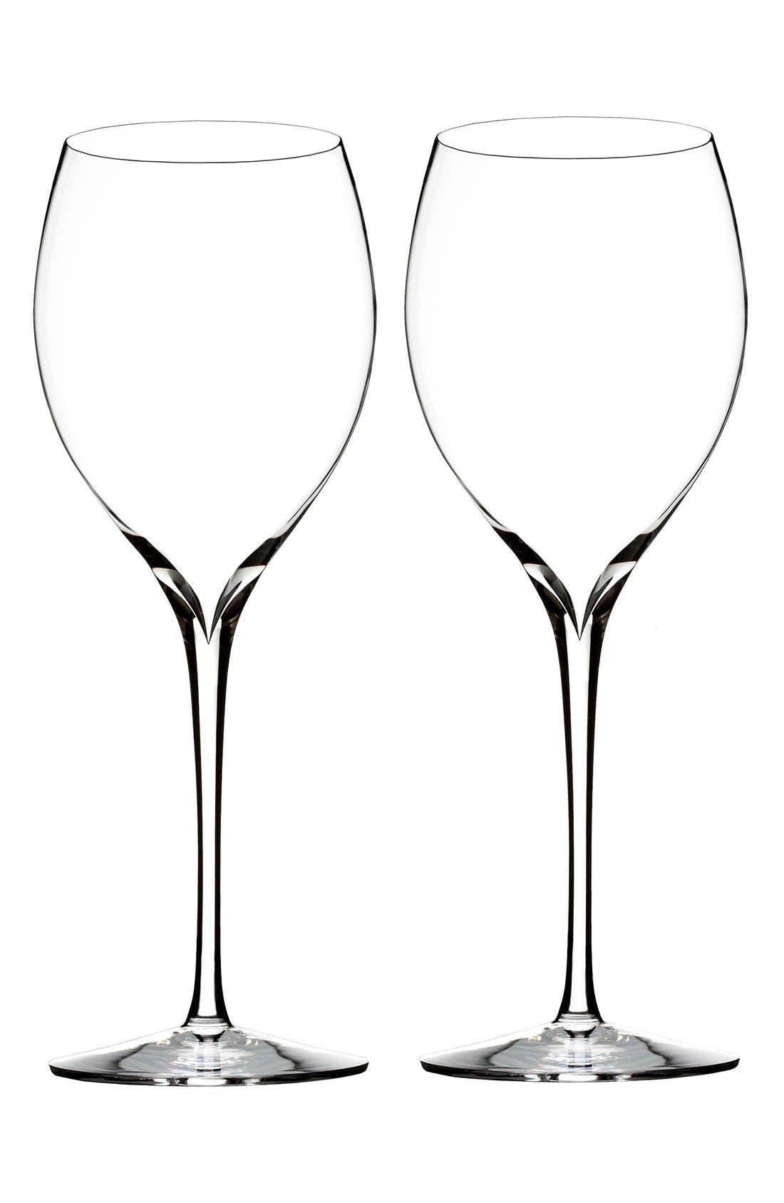 'Elegance' Fine Crystal Chardonnay Glasses,                             Main thumbnail 1, color,                             100